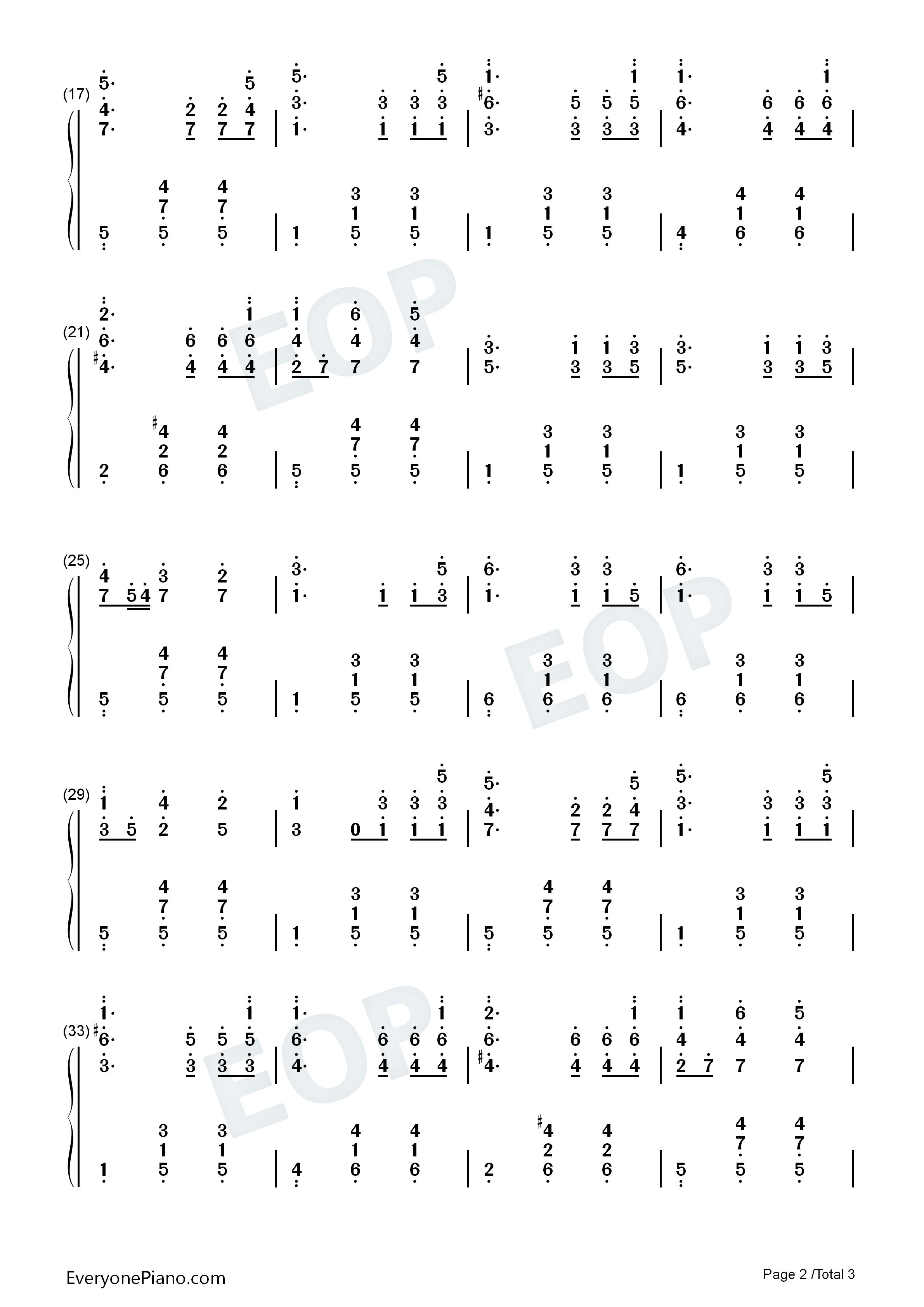 降a大调圆舞曲-勃拉姆斯双手简谱预览2