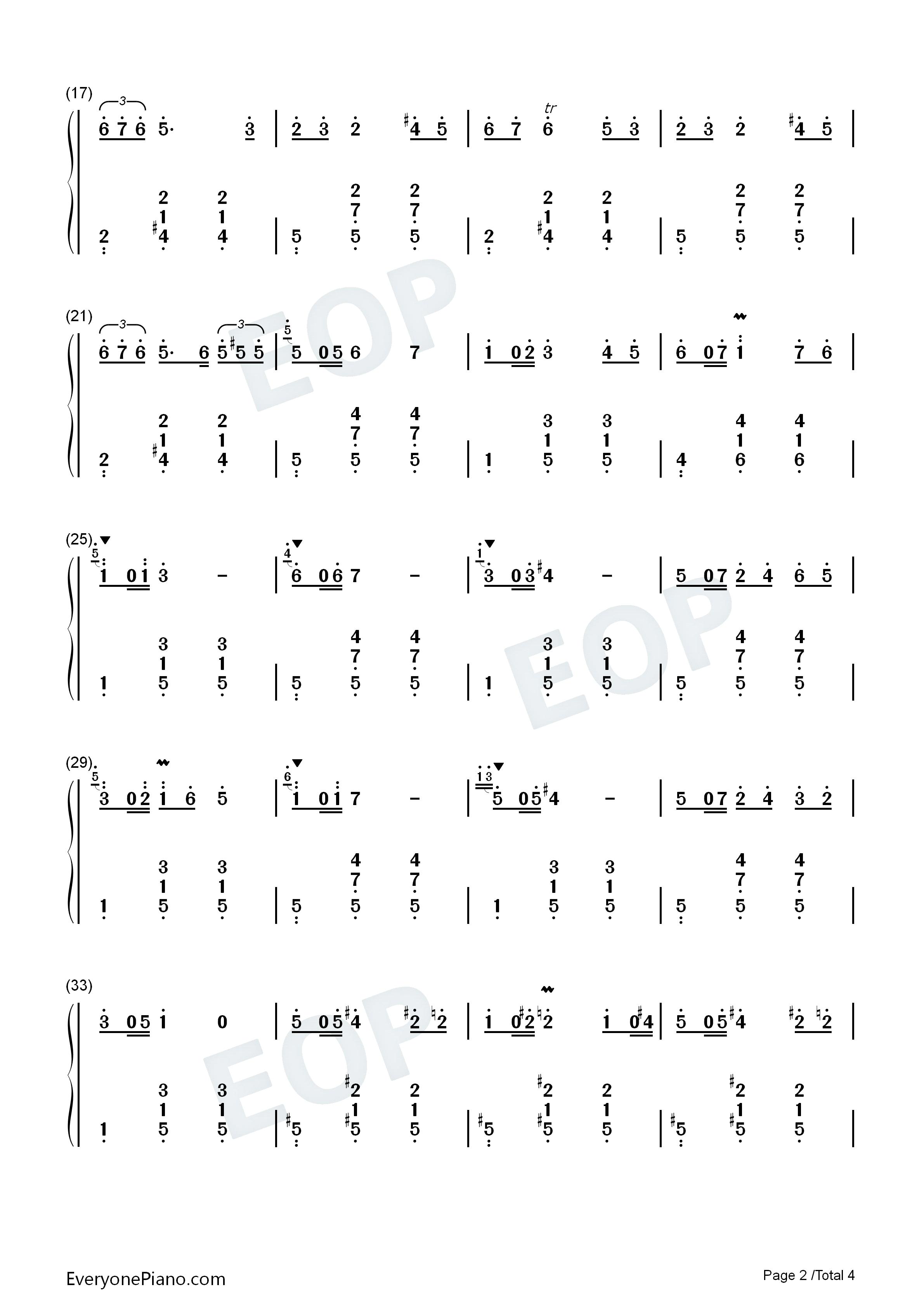 降b大调玛祖卡-肖邦双手简谱预览2
