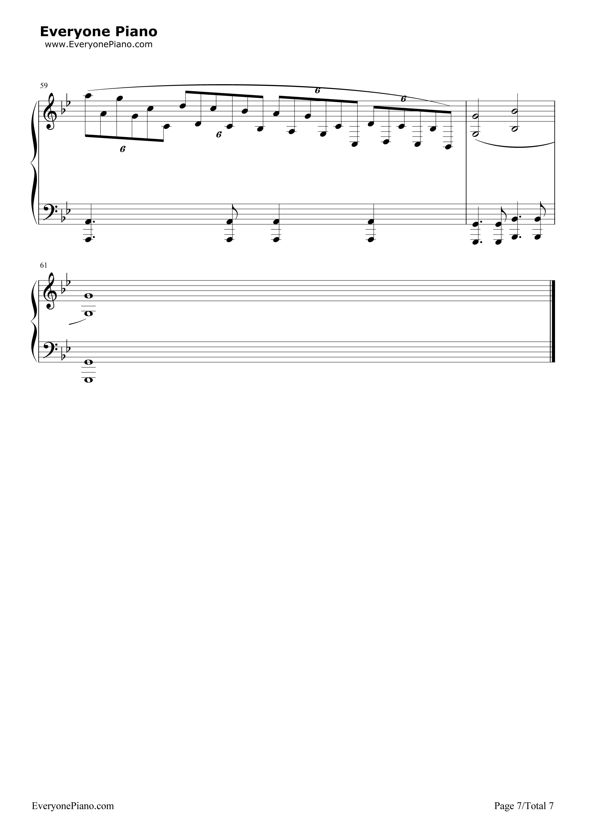 钢琴曲谱 经典 梦中的婚礼-改编版-理查德克莱德曼 梦中的婚礼-改编版