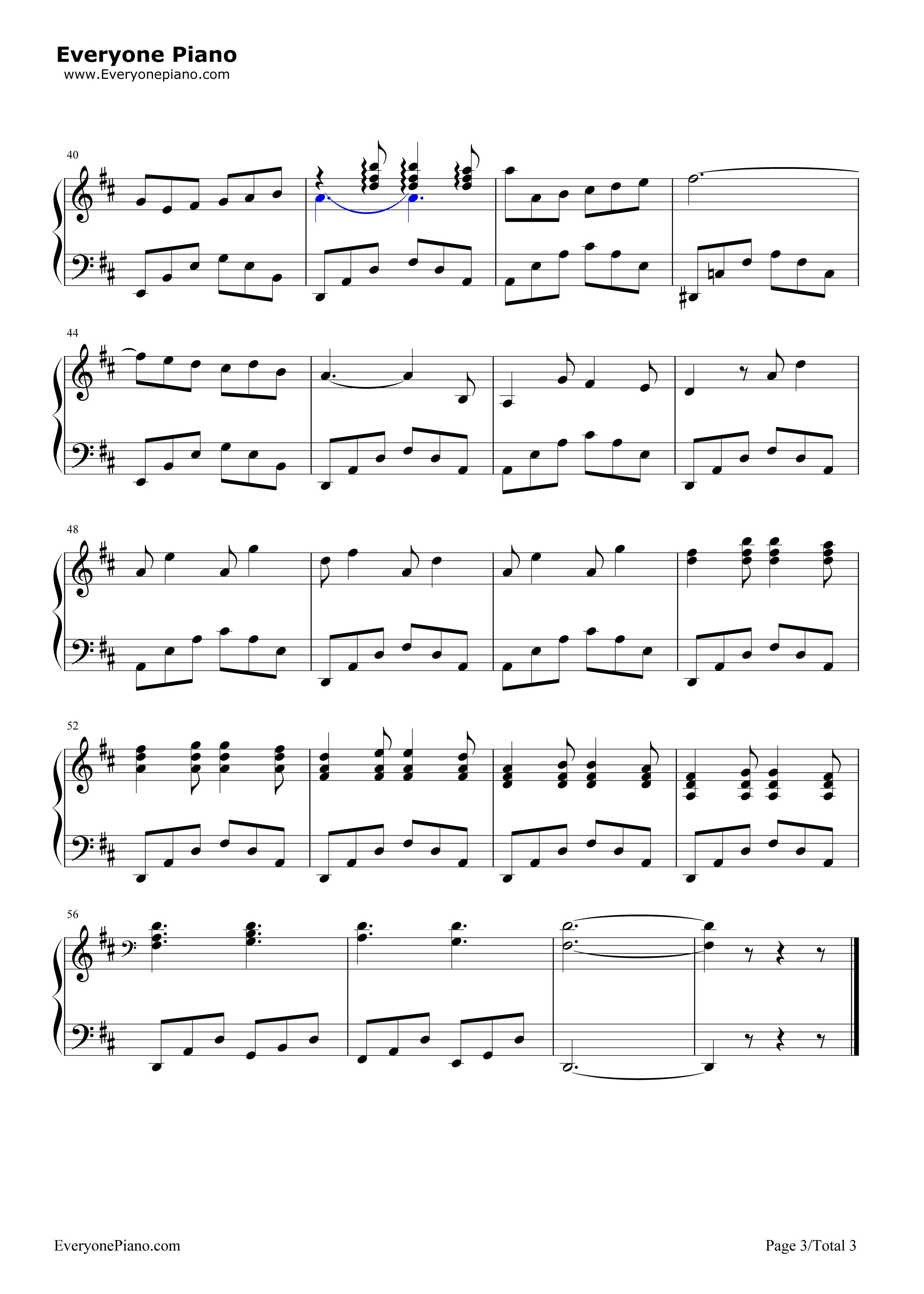 钢琴曲谱 练习曲 船歌-霍夫曼的故事ost 船歌-霍夫曼的故事ost五线谱