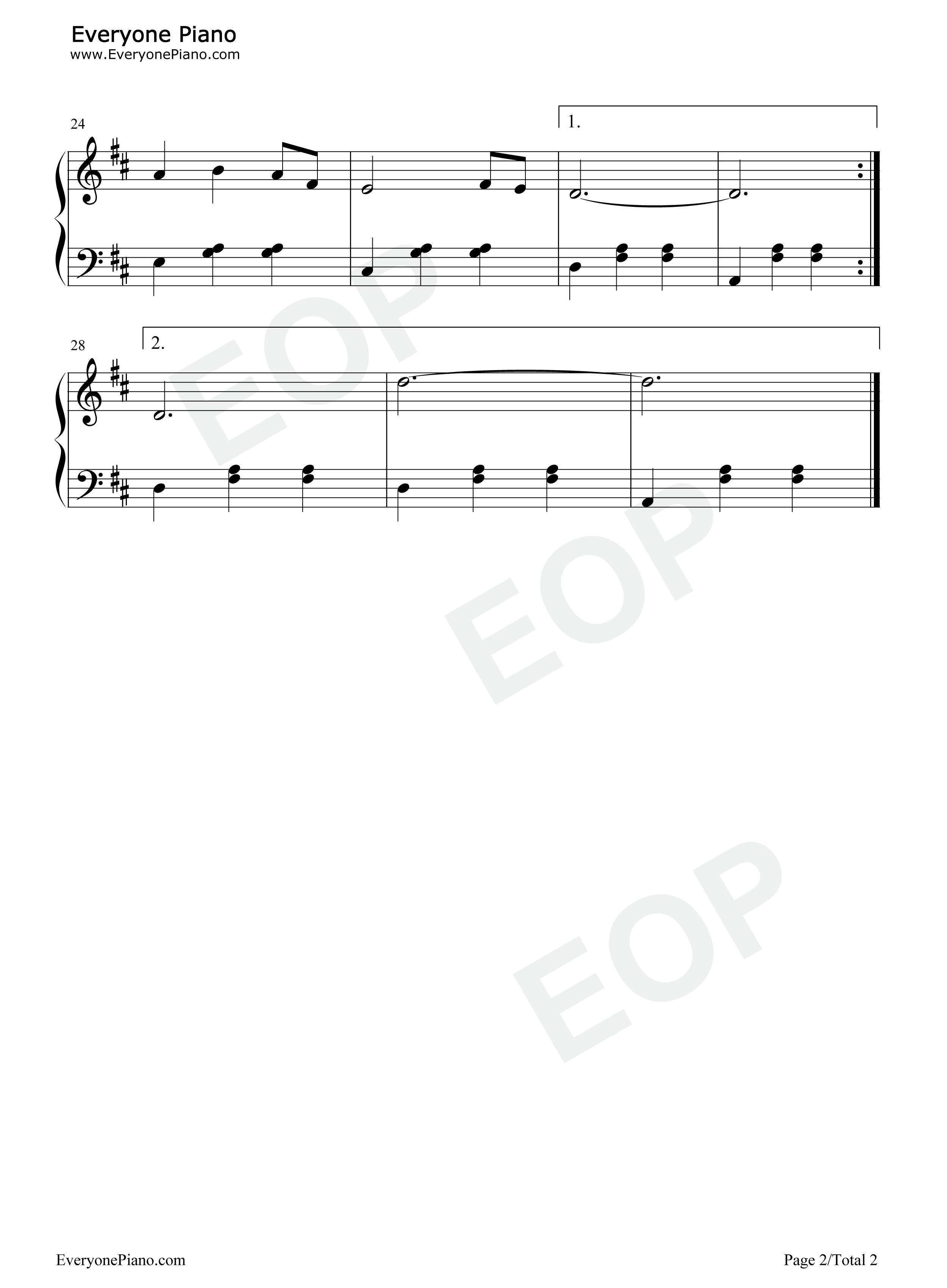 钢琴曲谱 民乐 玛依拉-朱逢博 玛依拉-朱逢博五线谱预览2