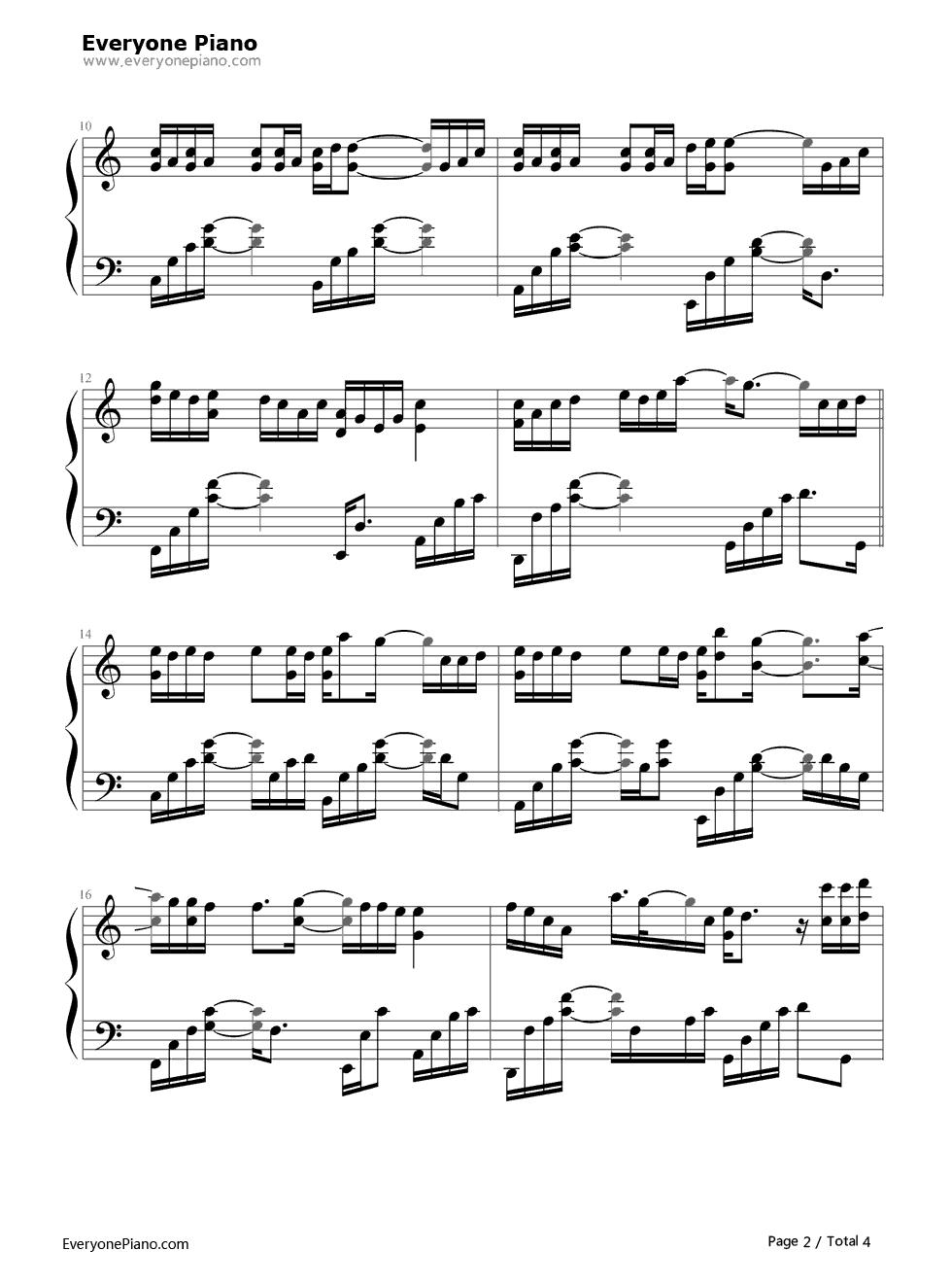 蜀绣-李宇春五线谱预览2-钢琴谱档(五线谱,双手简谱