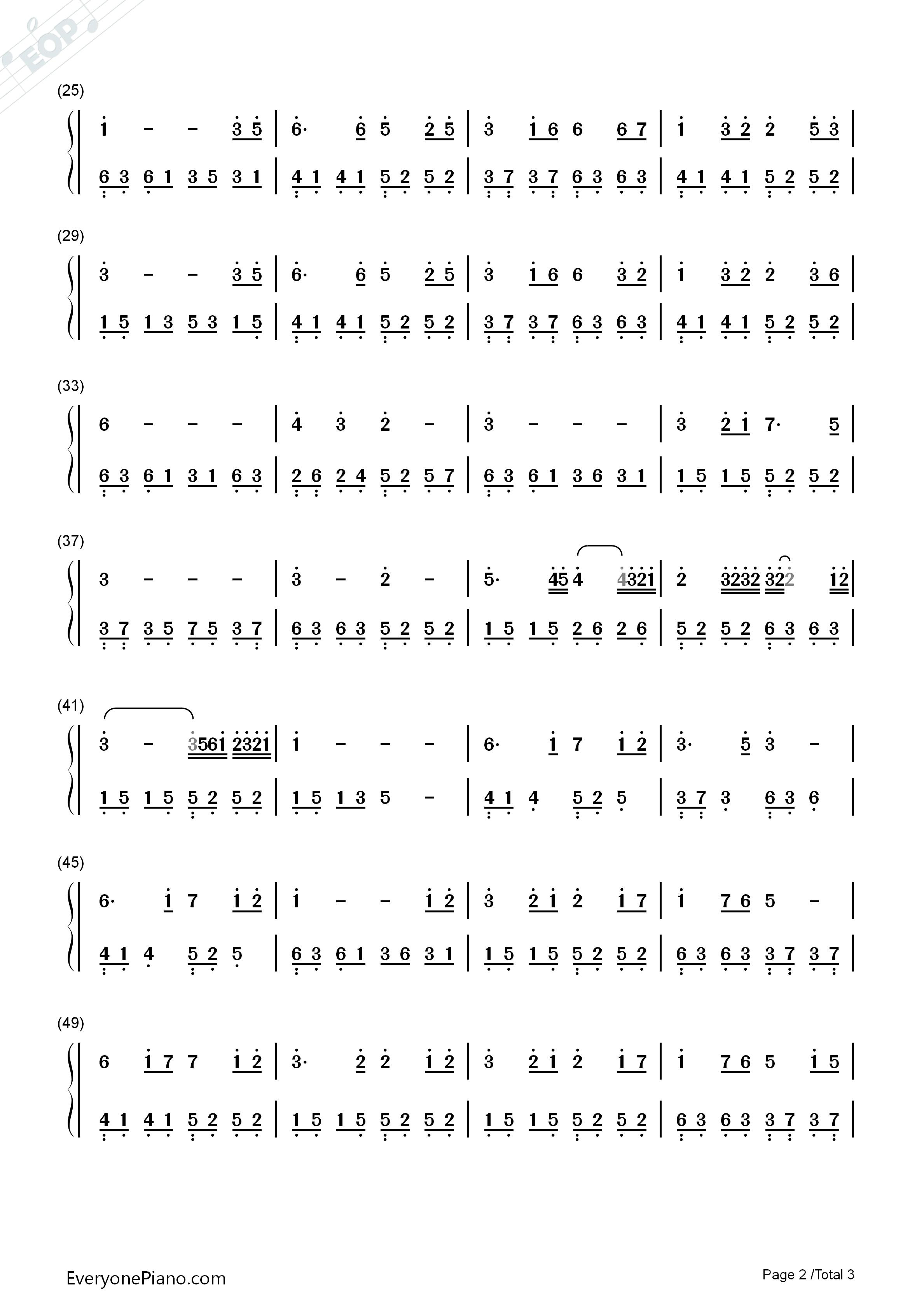 星月神話-神話插曲-簡單優美版雙手簡譜預覽2圖片