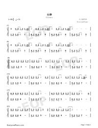 安静-周杰伦-钢琴谱档(五线谱,双手简谱,数位谱,midi图片