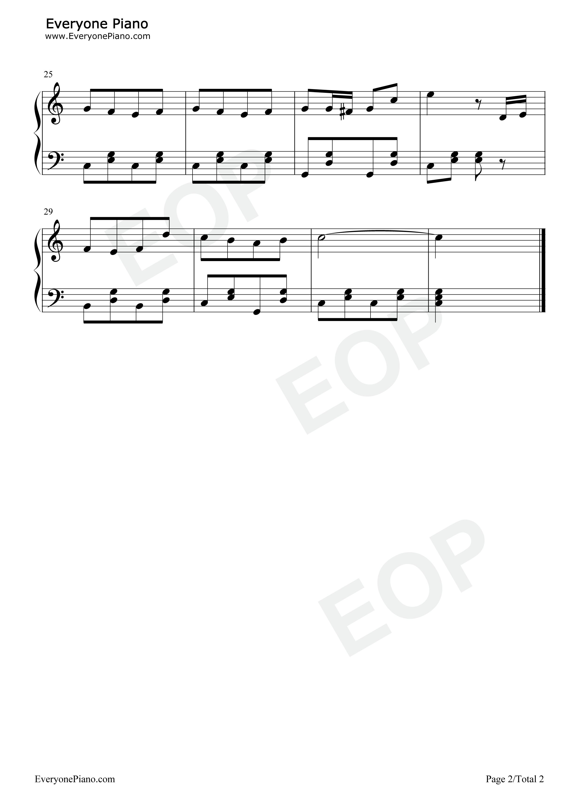 蓝精灵之歌钢琴谱