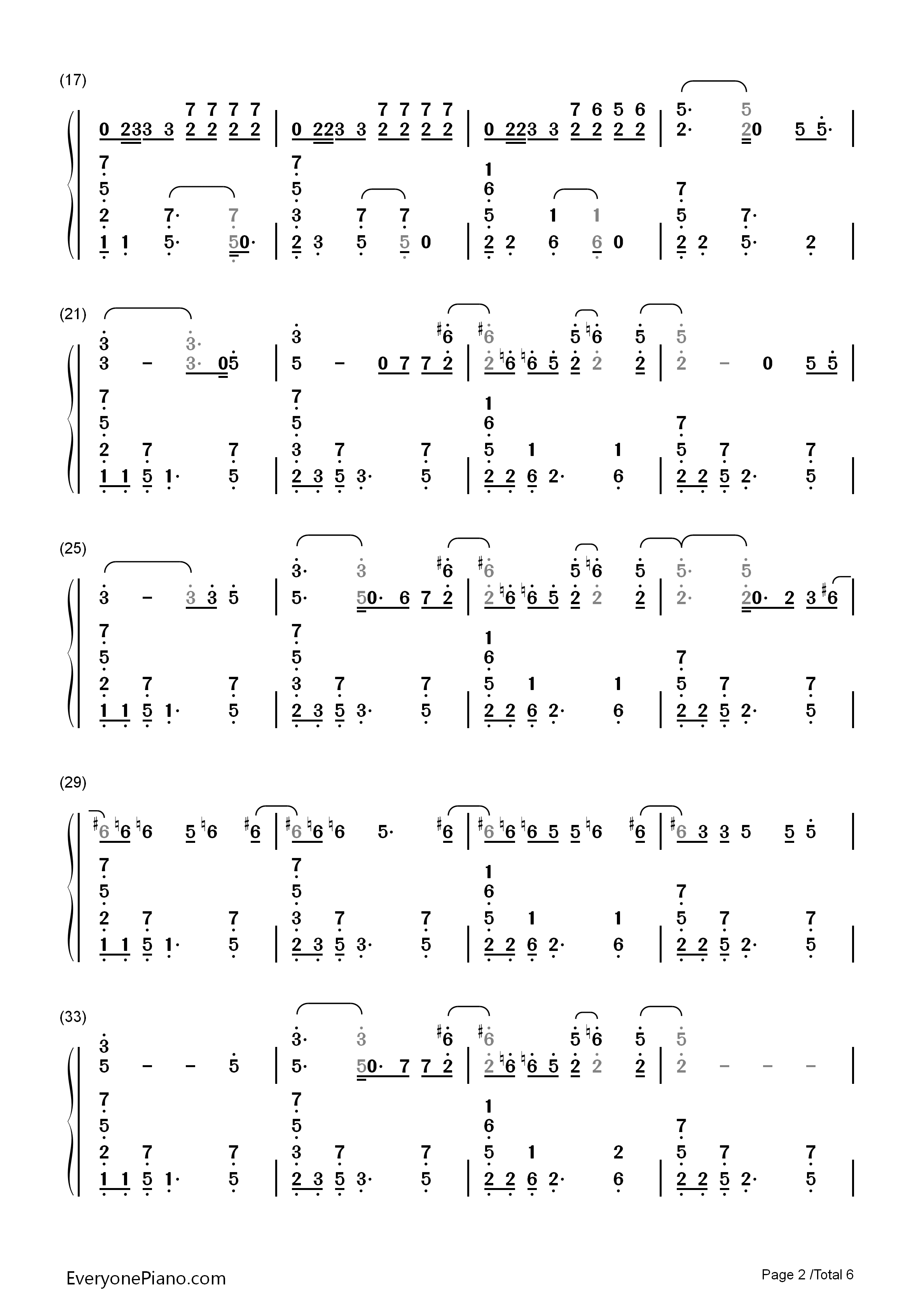 sugar钢琴乐谱