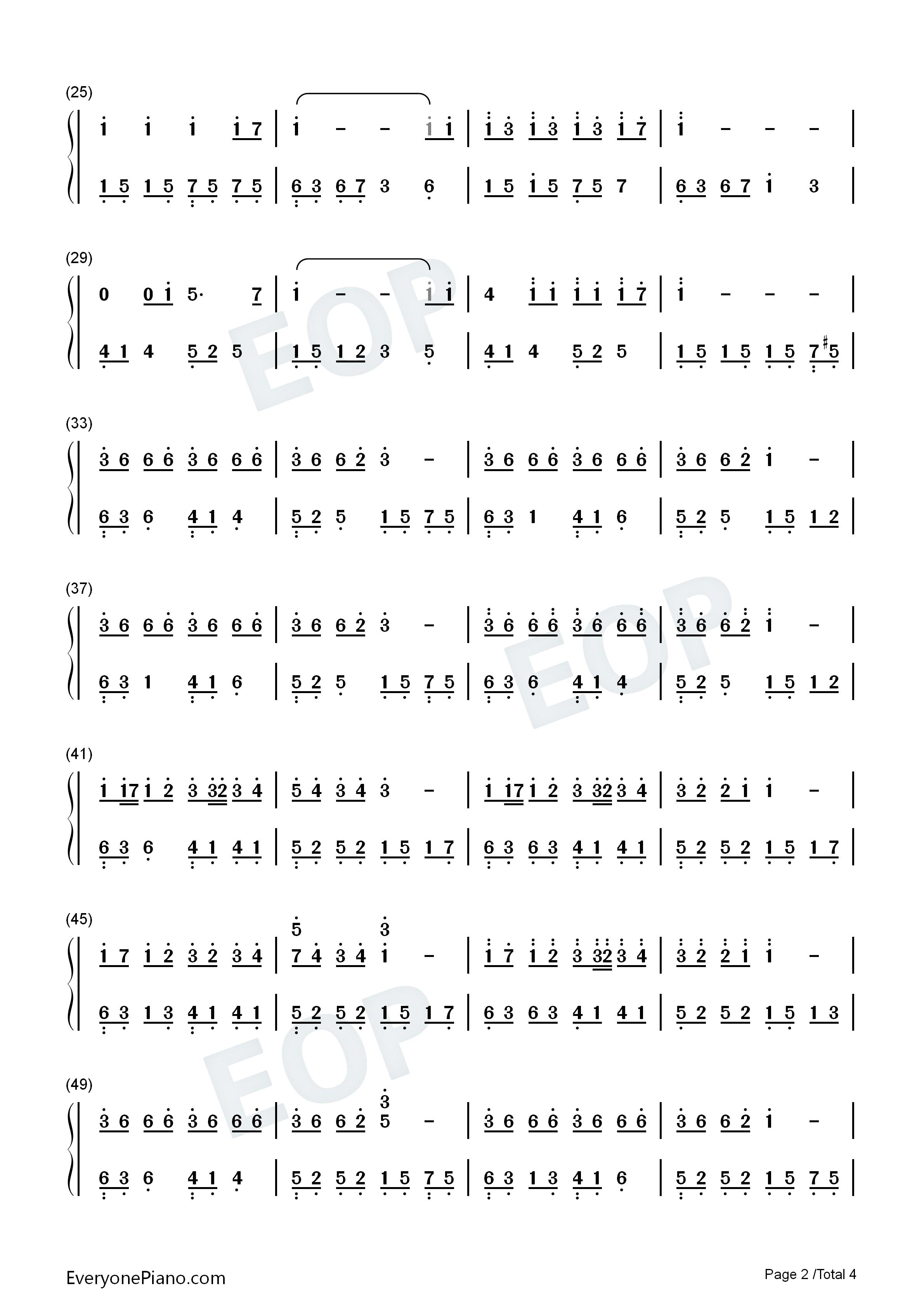 钢琴曲谱 轻音乐 第105天-pianoboy 第105天-pianoboy双手简谱预览2