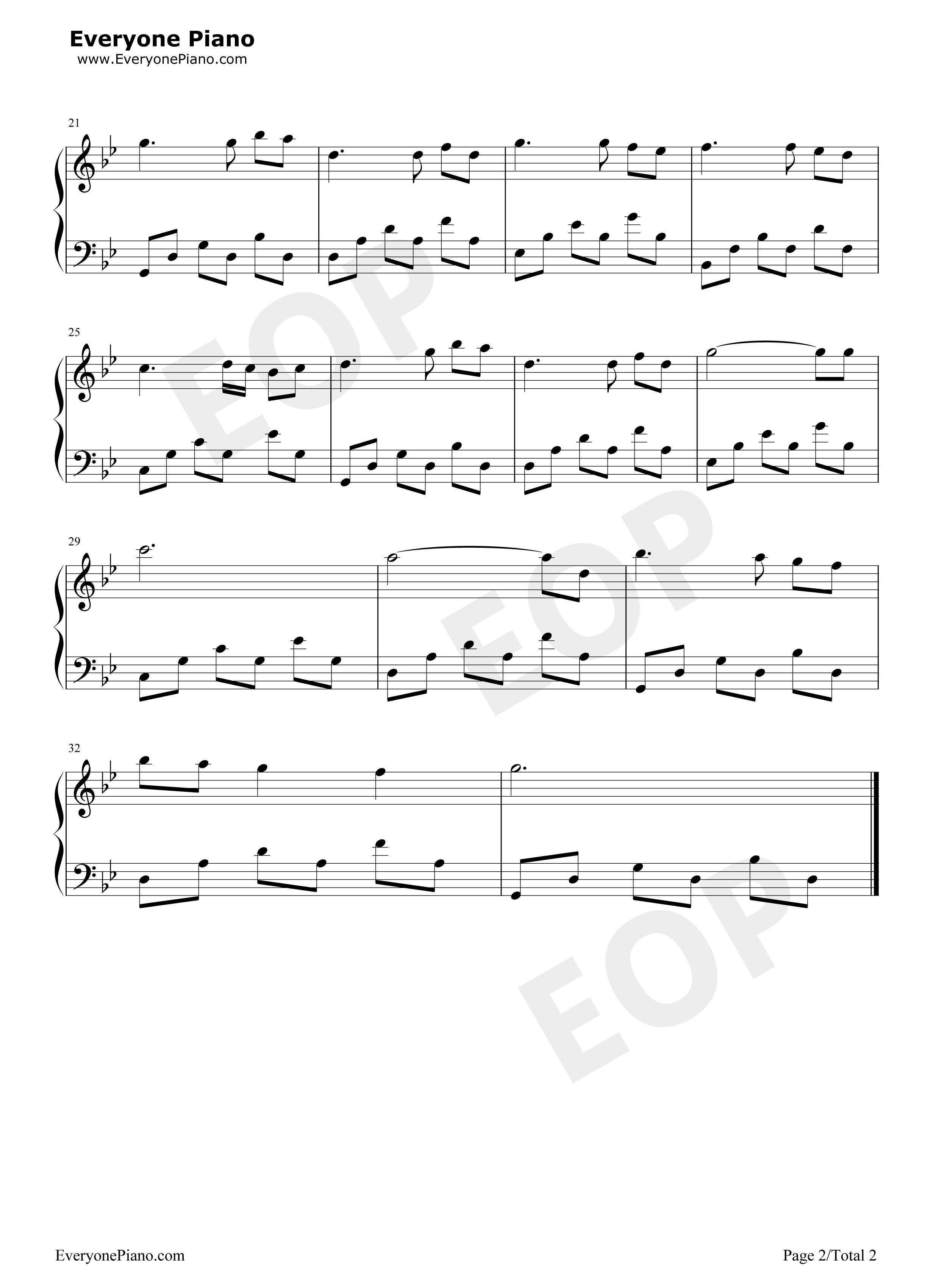 我们的时光-a time for us-罗密欧与朱丽叶插曲五线谱