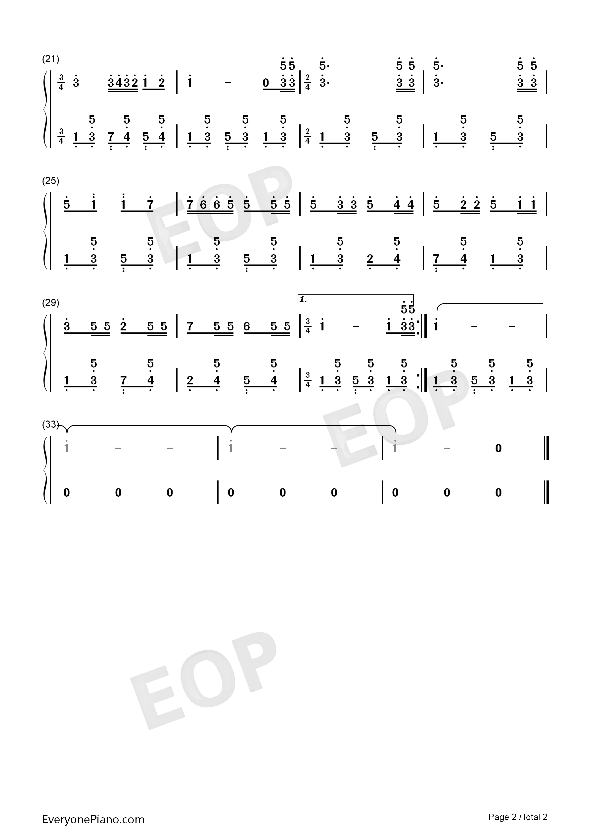 打起手鼓唱起歌-施光南双手简谱预览2