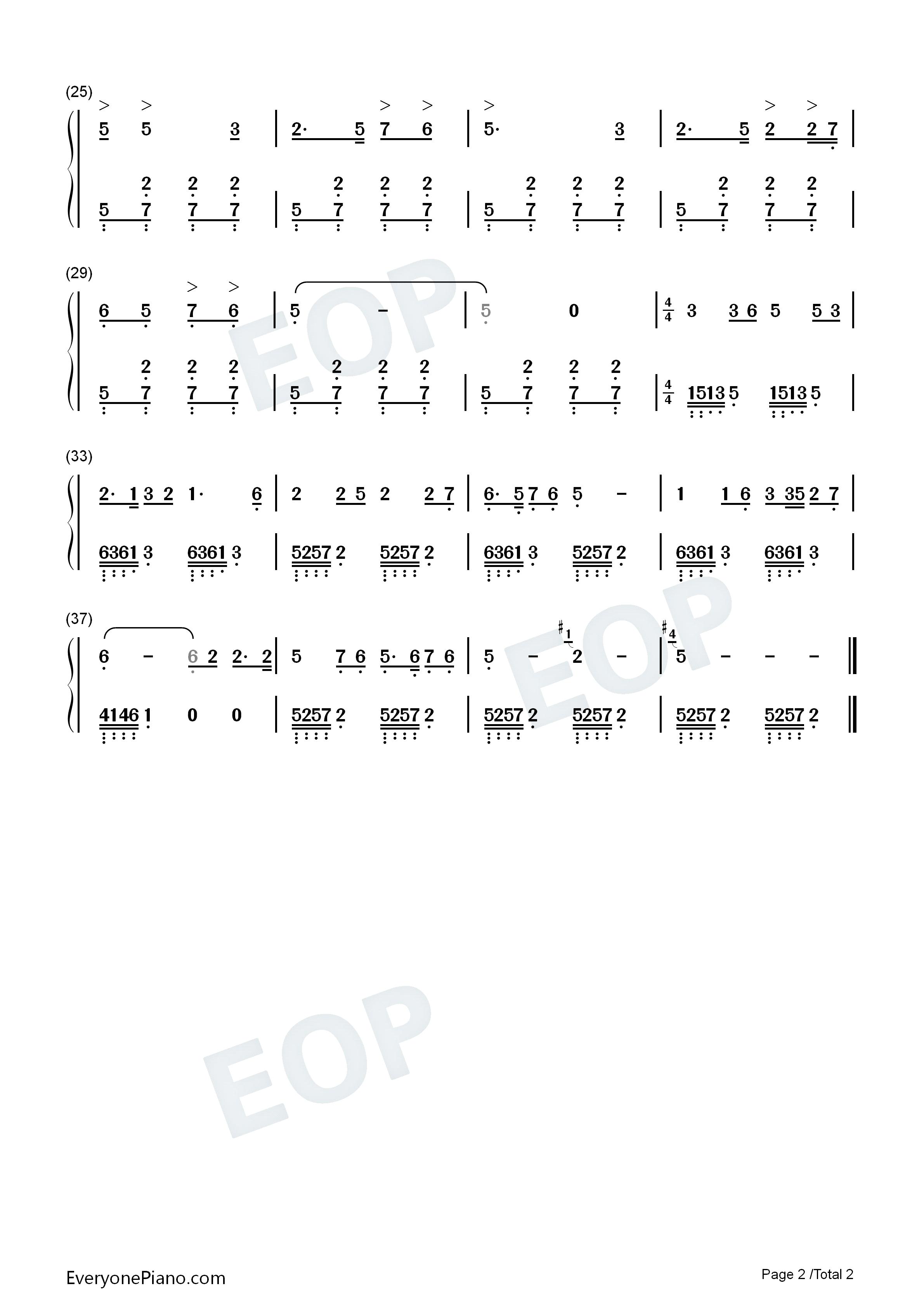 弹起我心爱的土琵琶-铁道游击队插曲双手简谱预览2