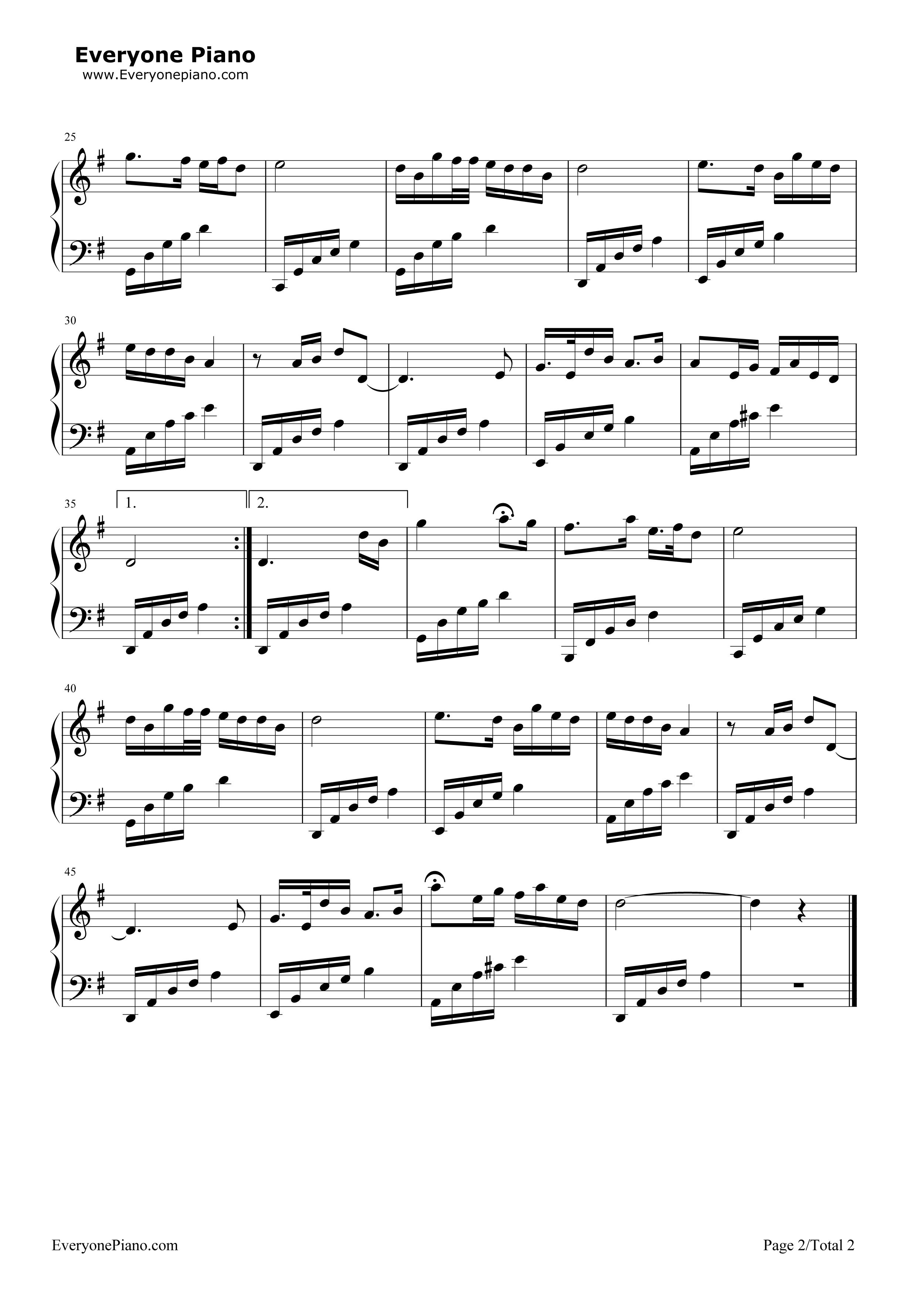 钢琴曲谱 民乐 在那桃花盛开的地方 在那桃花盛开的地方五线谱预览2