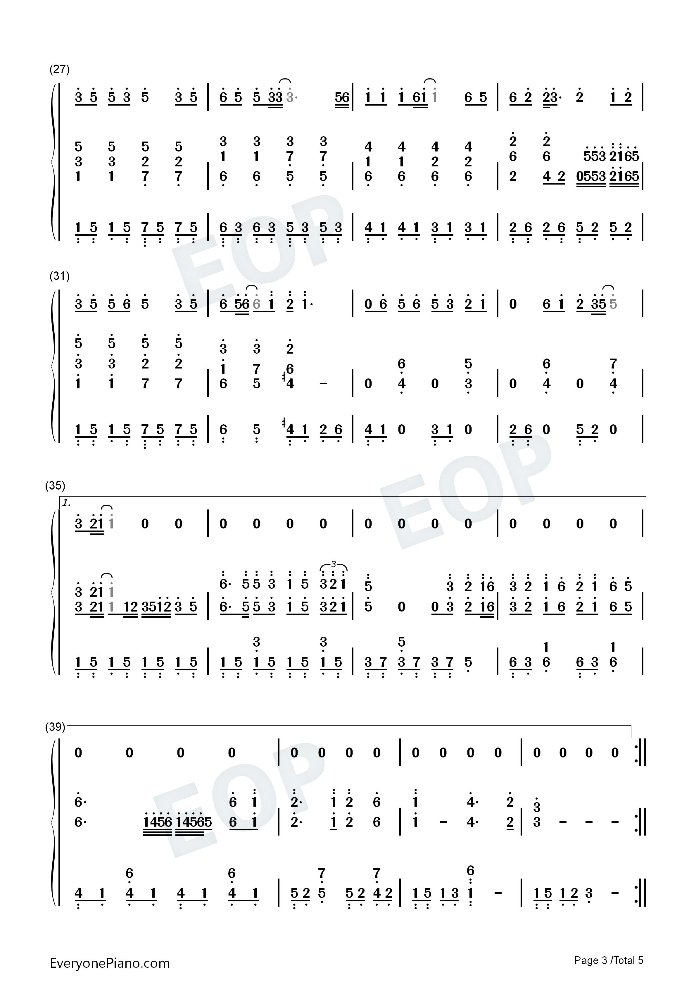 钢琴曲谱 流行 国家-成龙&刘媛媛 国家-成龙&刘媛媛双手简谱预览3  }