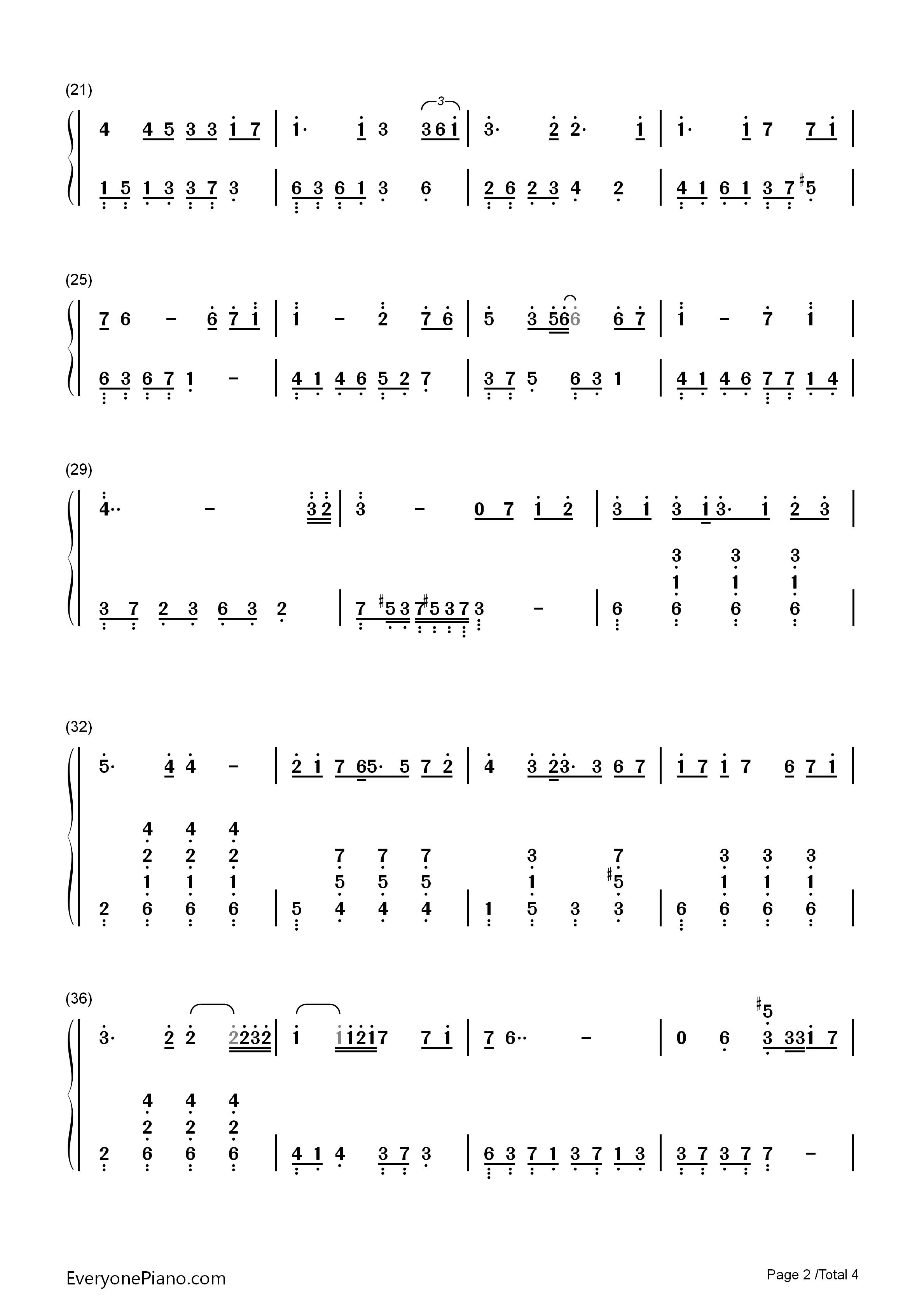 月半小夜曲-ハーフムーン99セレナーデ双手简谱