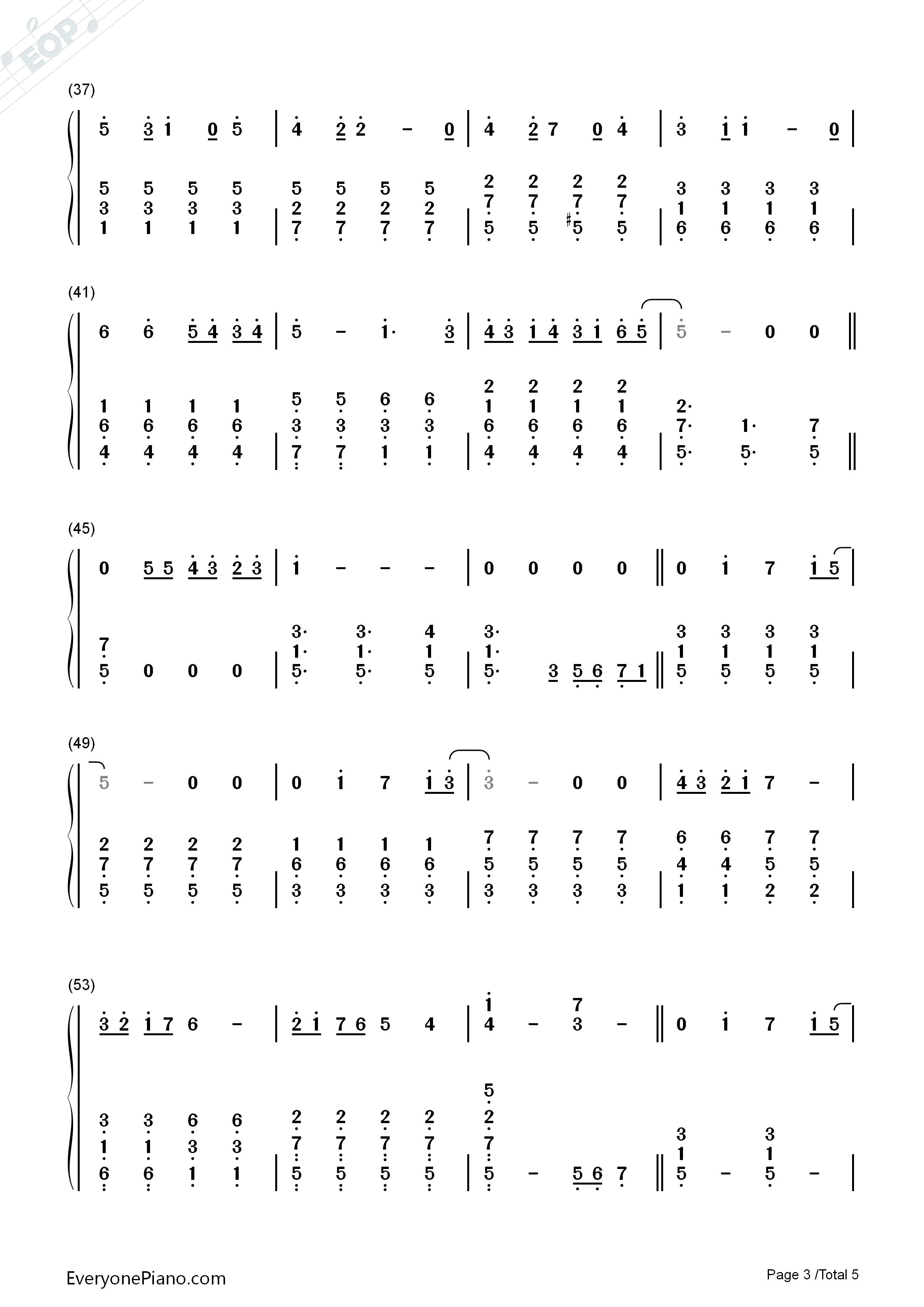 となりのトトロ-邻家的龙猫-龙猫片尾曲双手简谱预览3