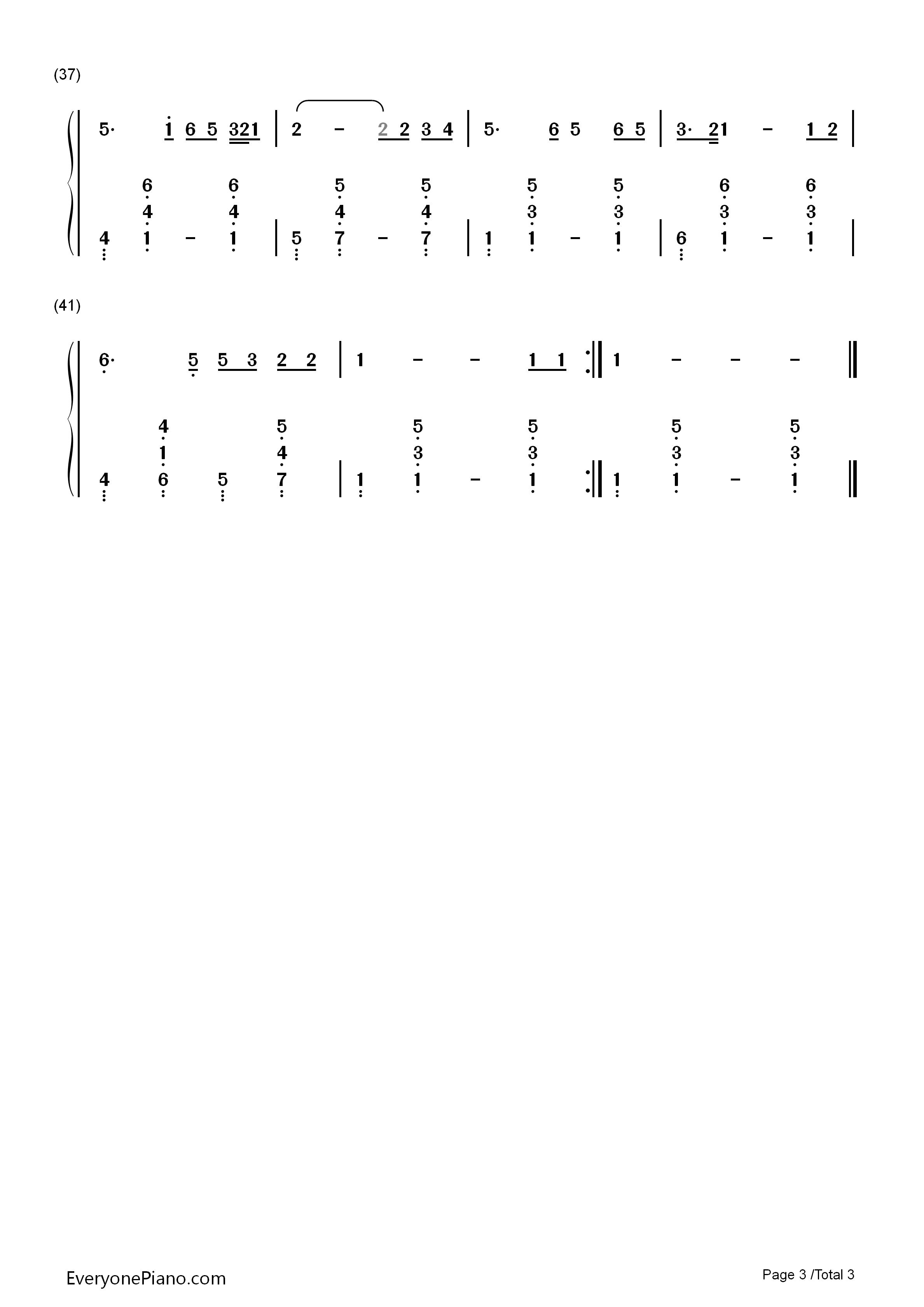 外面的世界 齐秦双手简谱预览2