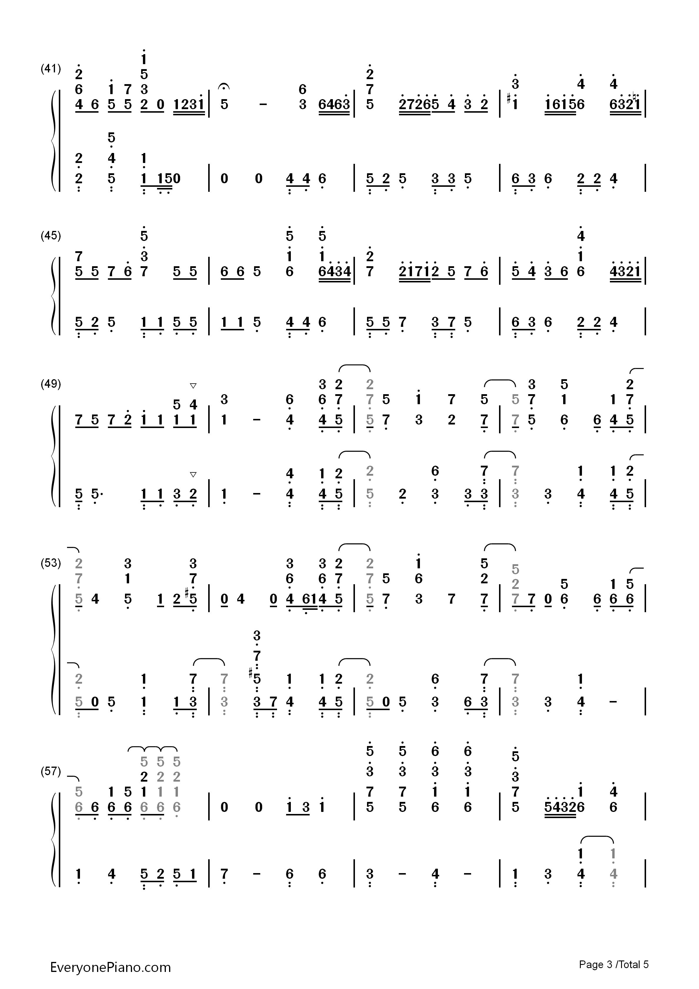 小星星幻想曲-v.k克双手简谱预览3-钢琴谱档(五线谱图片
