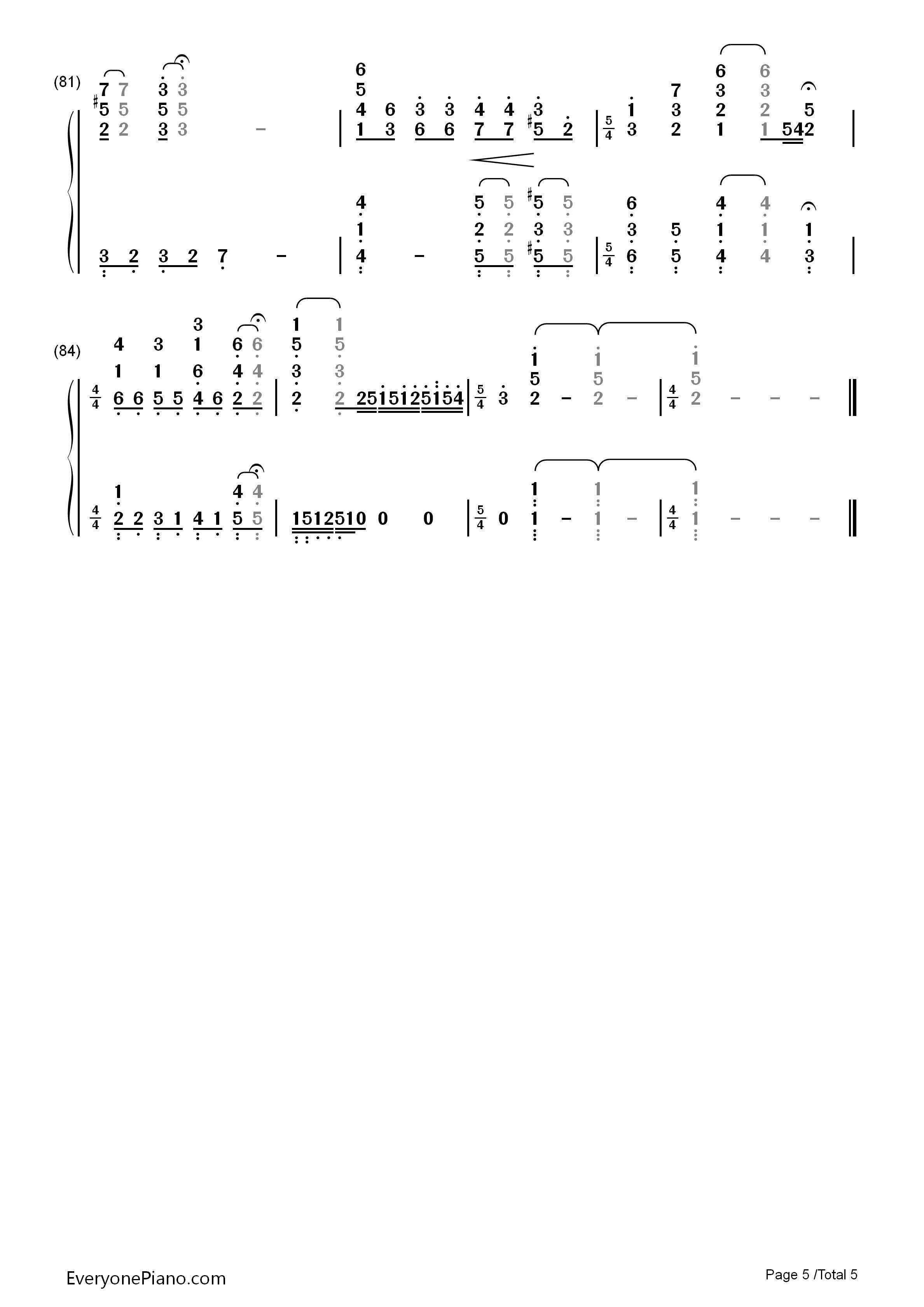 小星星幻想曲-v.k克双手简谱预览5-钢琴谱图片