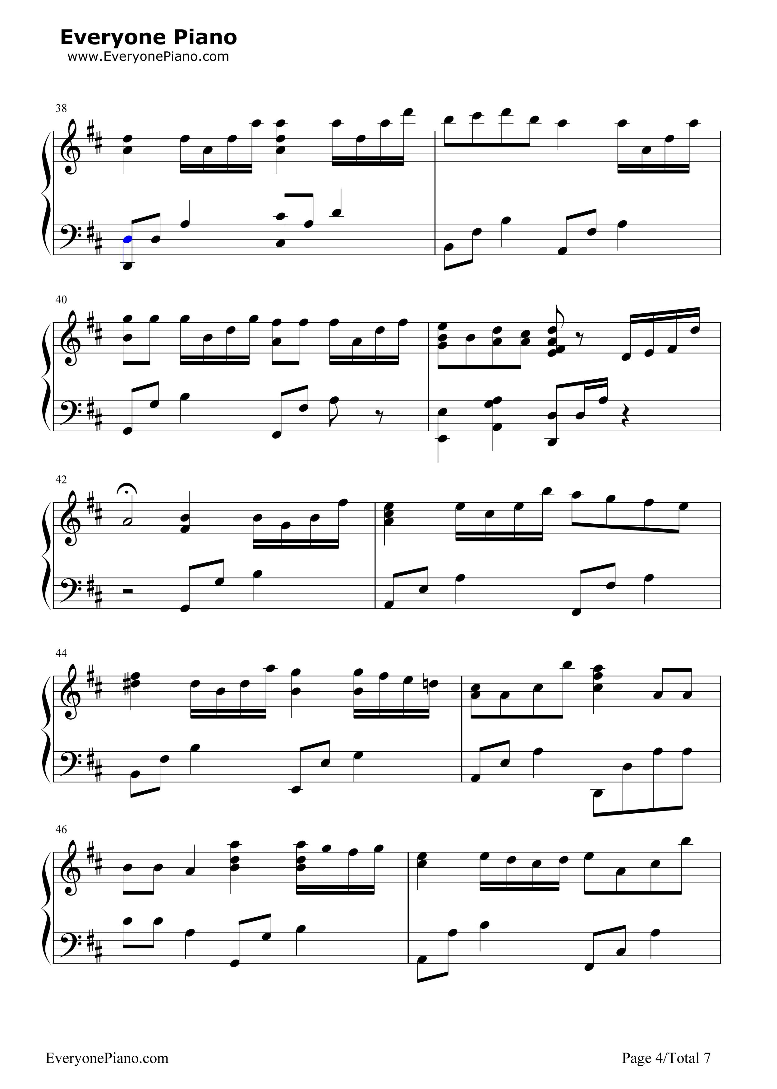 小星星幻想曲-v.k克五线谱预览4-钢琴谱(五线谱,双手)