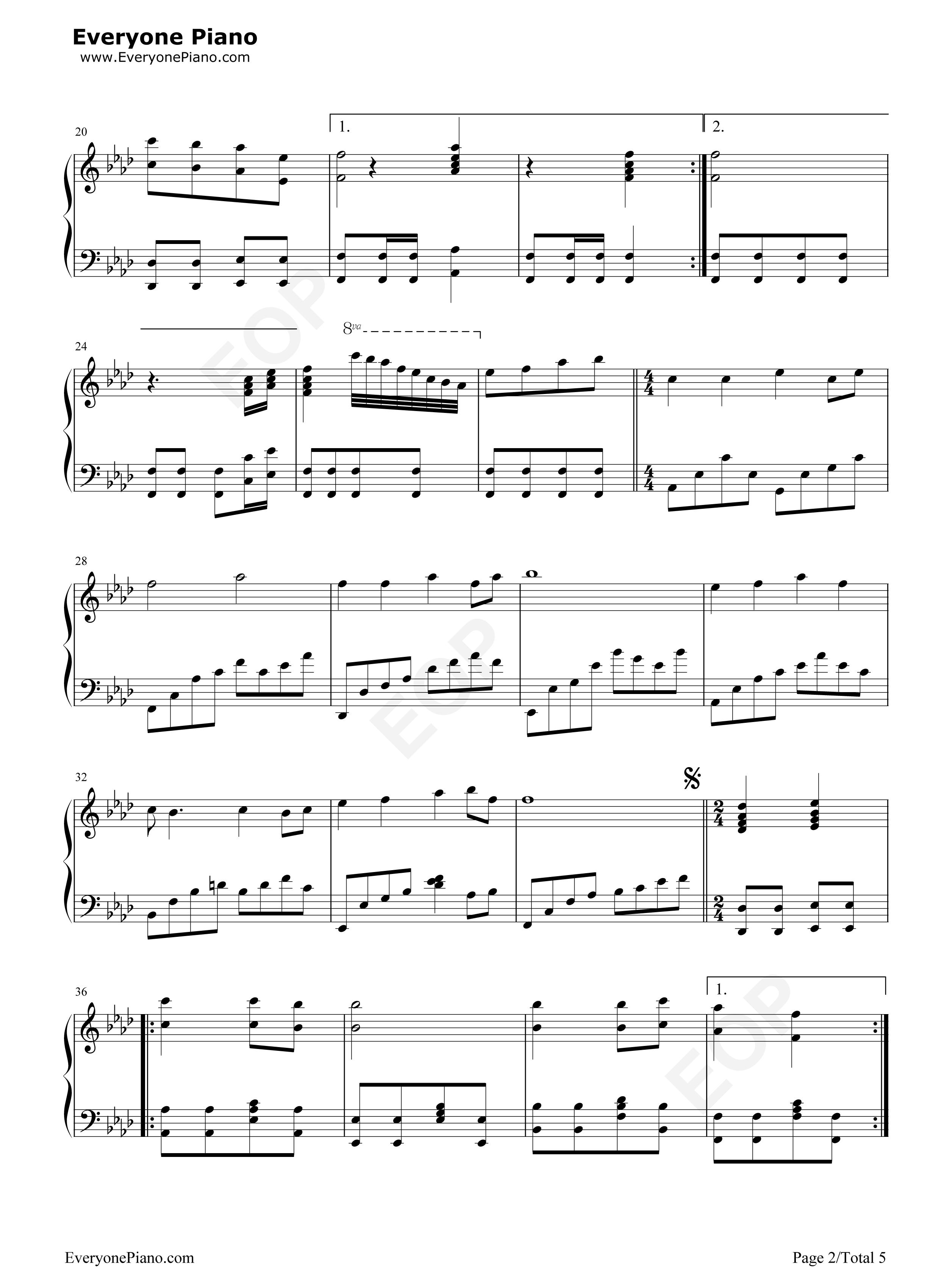 钢琴曲谱 流行 千年等一回-完整版-新白娘子传奇主题曲 千年等一回