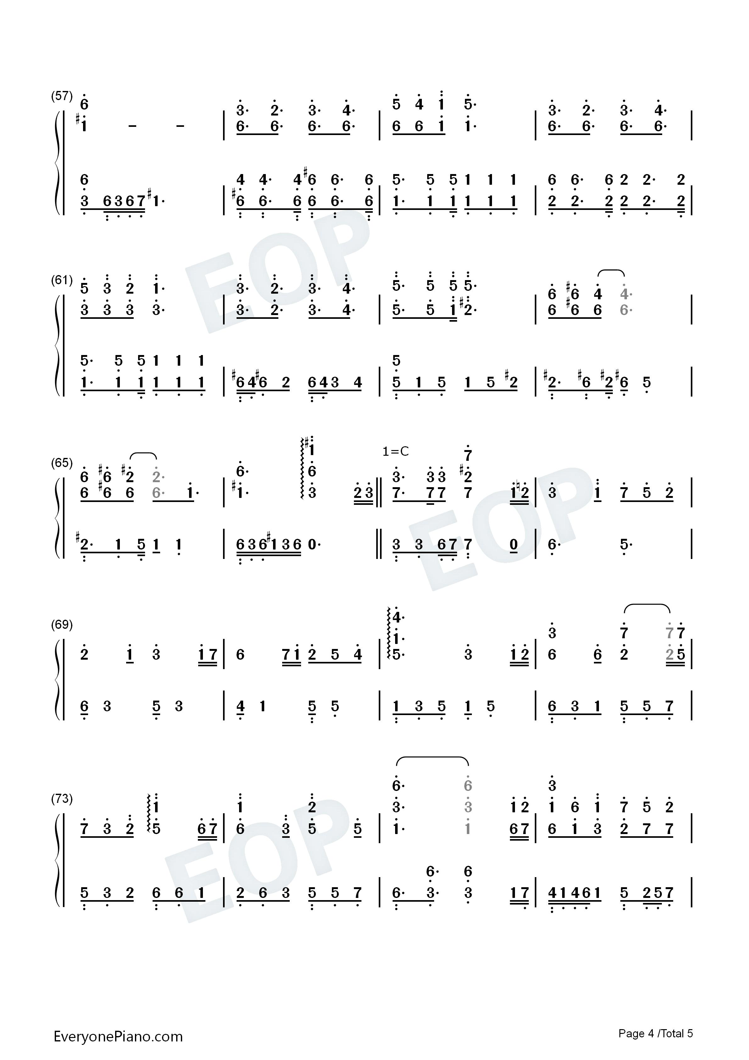 钢琴曲谱 流行 桃花结-千金女贼片尾曲 桃花结-千金女贼片尾曲双手