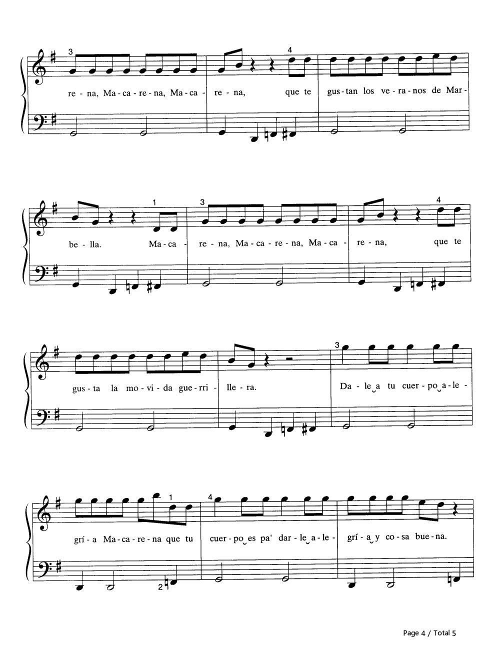 暴风雪钢琴曲谱-五线谱预览4 钢琴谱档 五线谱 双手简谱 数位谱 Midi PDF 免费下载