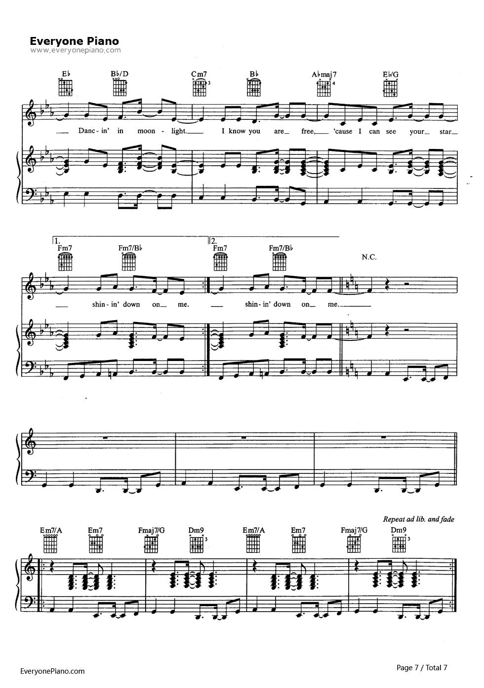 ackson五线谱预览7 钢琴谱档 五线谱 双手简谱 数位谱 Midi PDF 免费