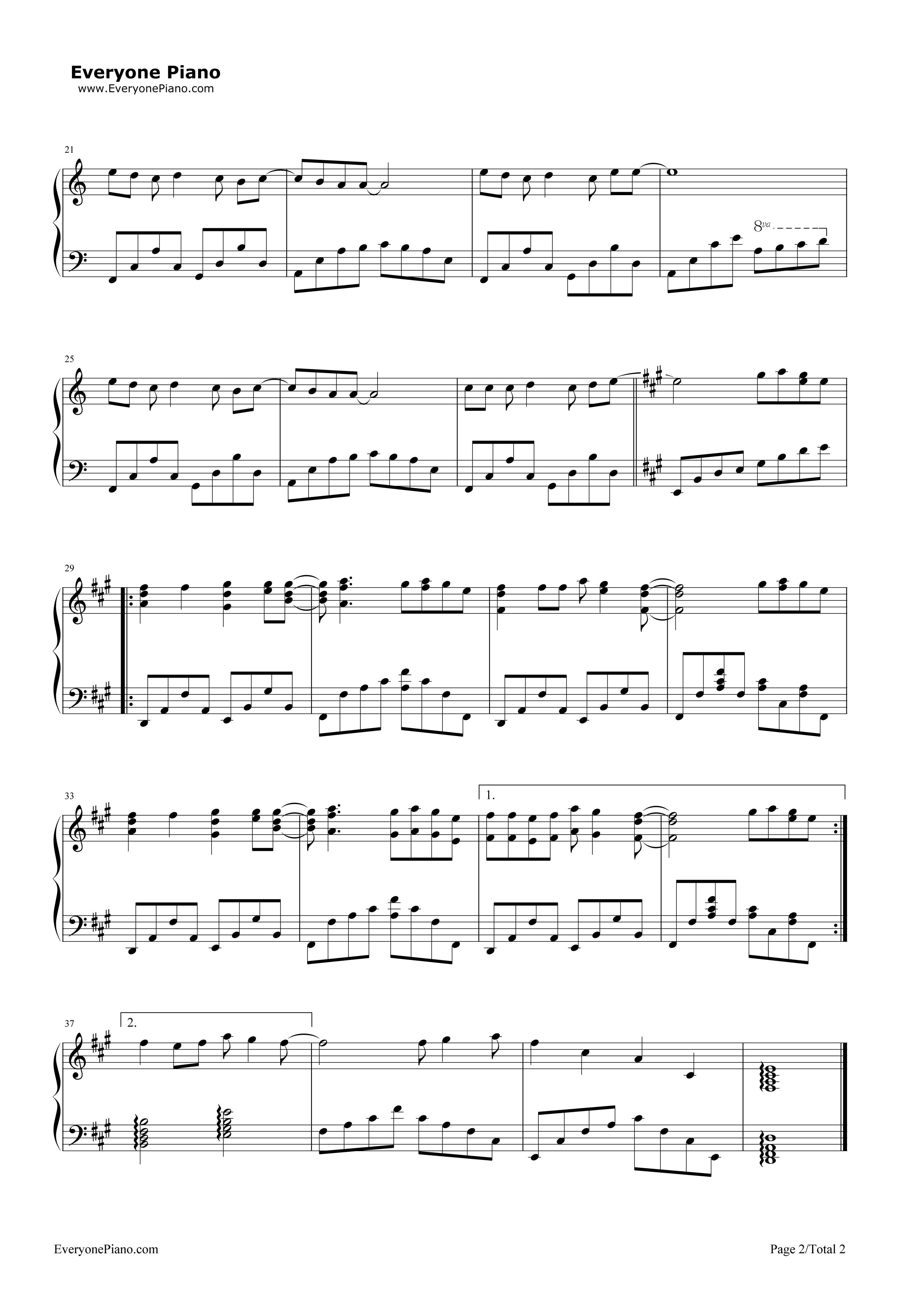 higher-迪迦奥特曼主题曲五线谱预览2