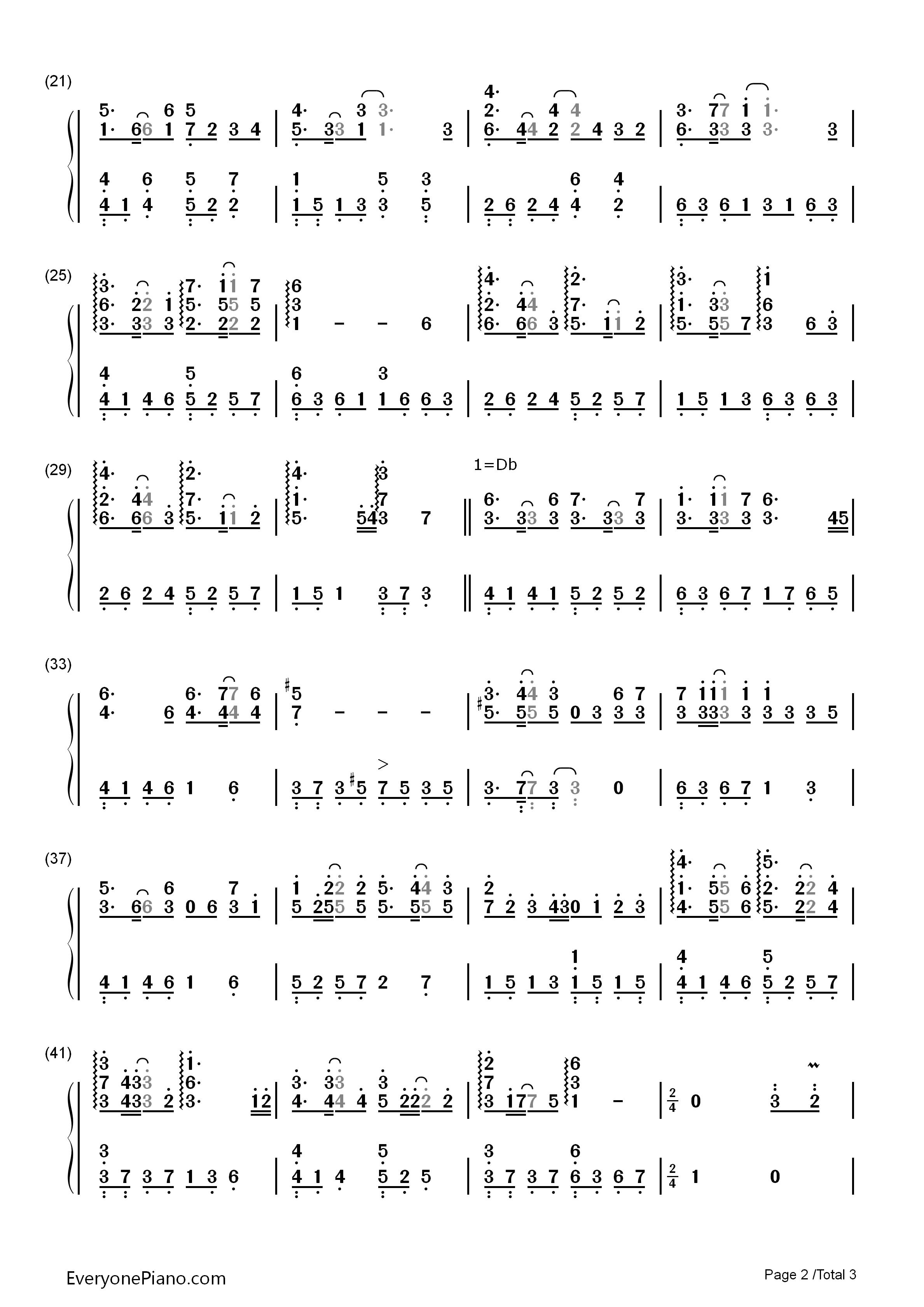 钢琴曲谱 流行 信仰之名-完整版 信仰之名-完整版双手简谱预览2  }