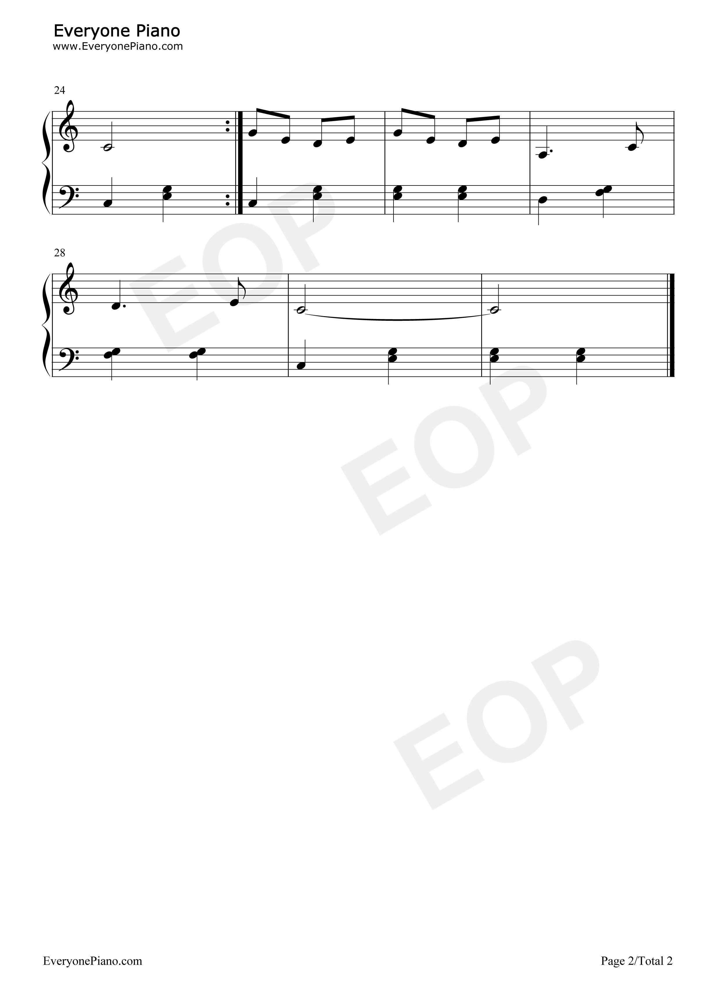卖报歌-儿童歌曲五线谱预览2