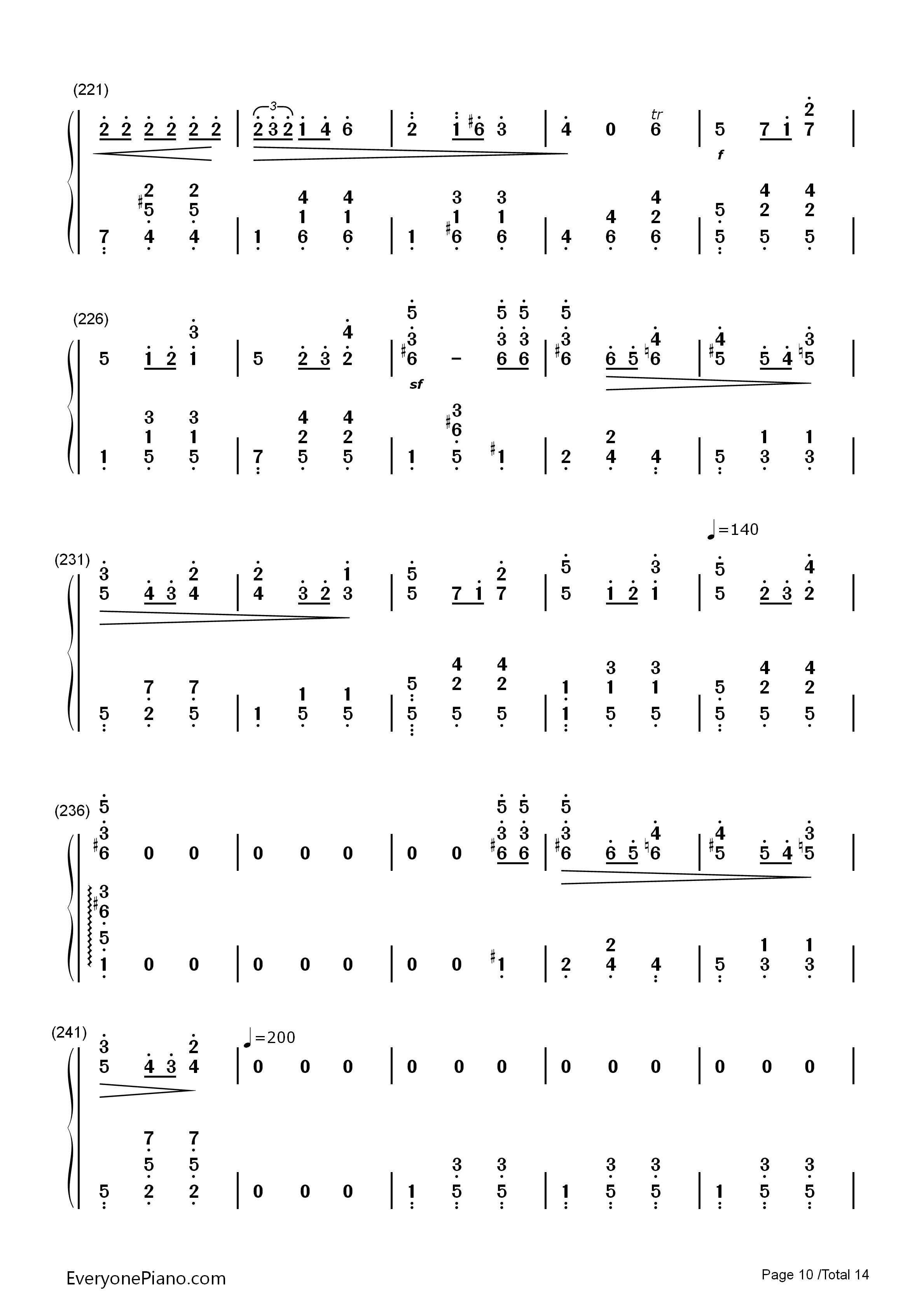 华丽大圆舞曲-肖邦双手简谱预览10