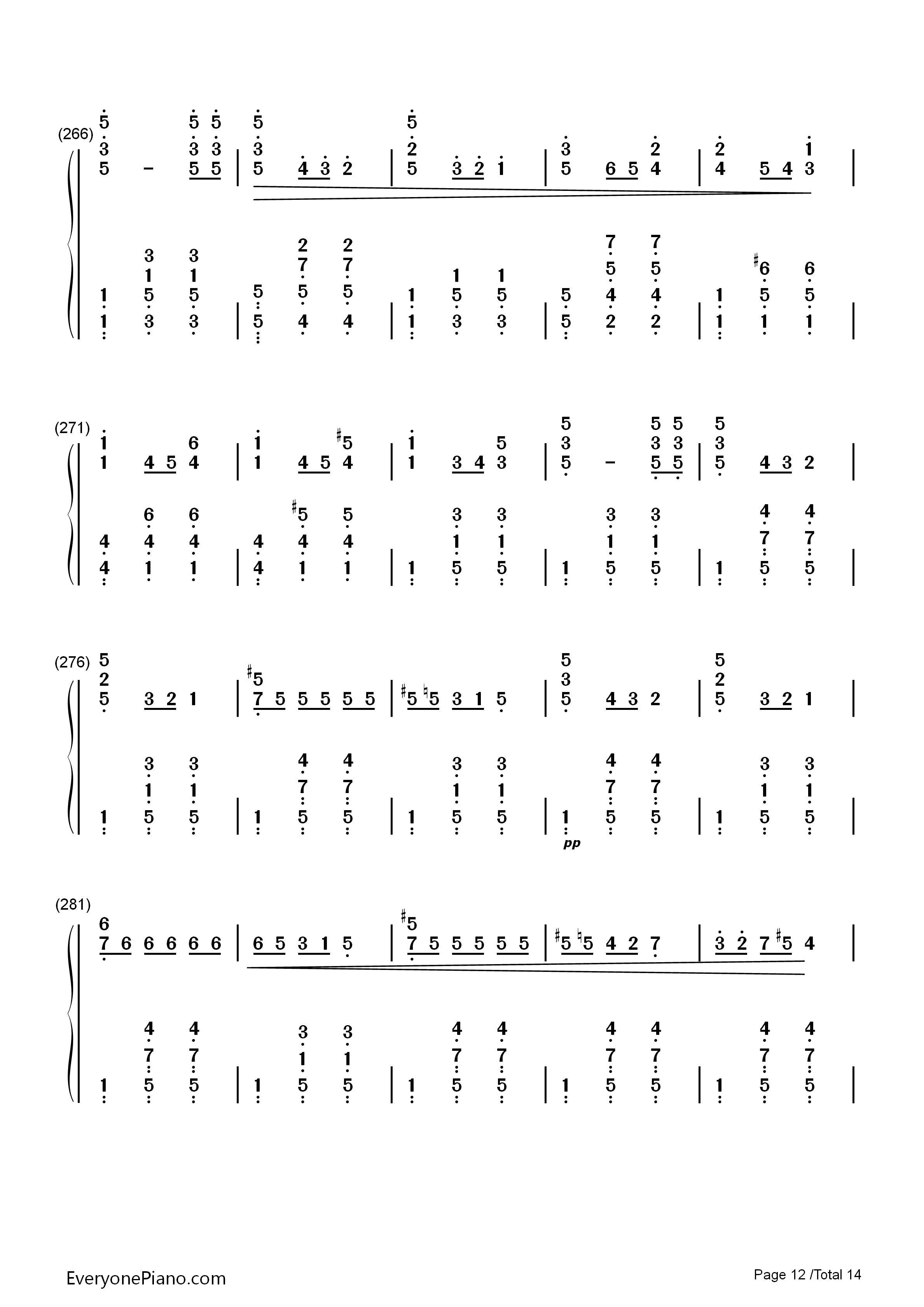 华丽大圆舞曲-肖邦双手简谱预览