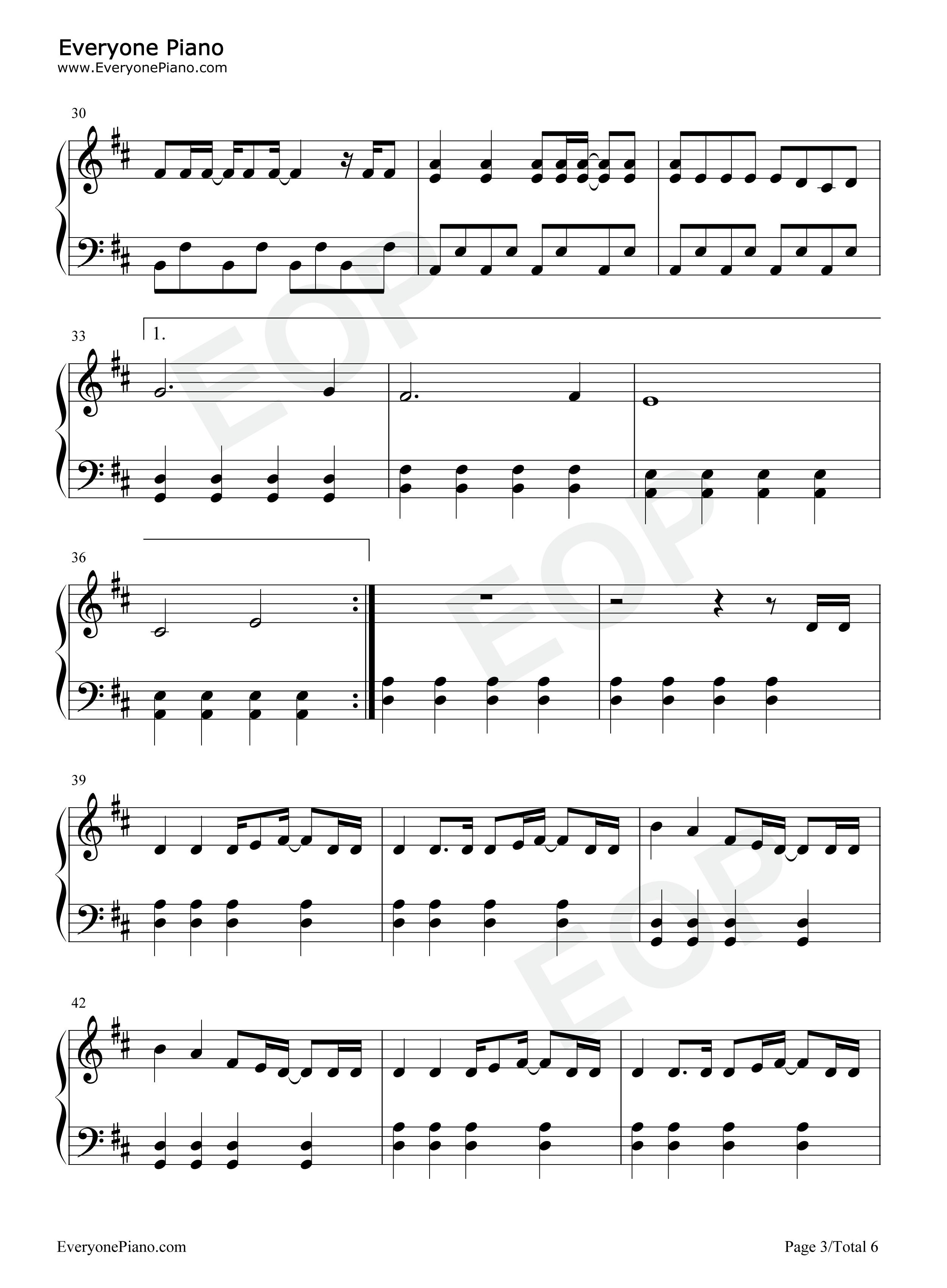 dragonsong 乐谱-Shots Imagine Dragons五线谱预览3 钢琴谱档 五线谱 双手简谱 数位谱