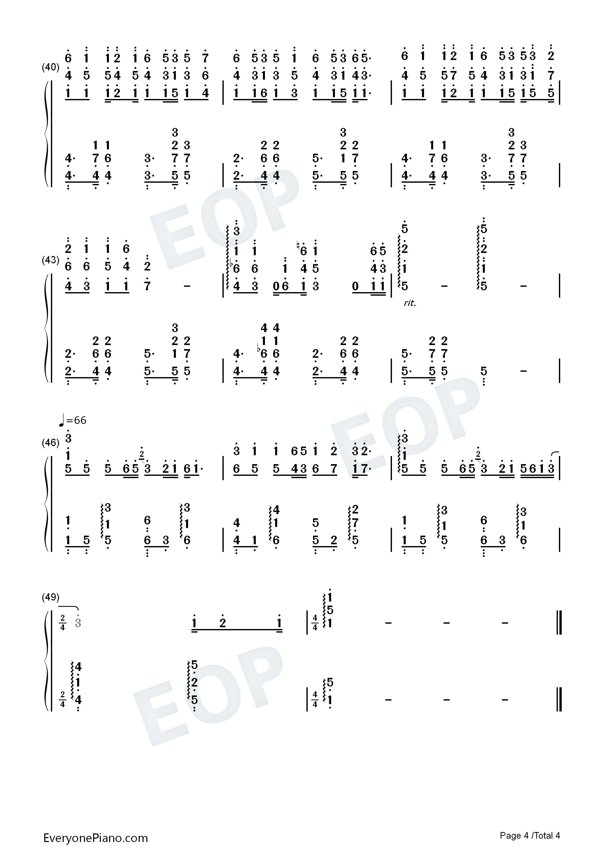 钢琴曲谱 流行 蝴蝶泉边-黄雅莉 蝴蝶泉边-黄雅莉双手简谱预览4  }