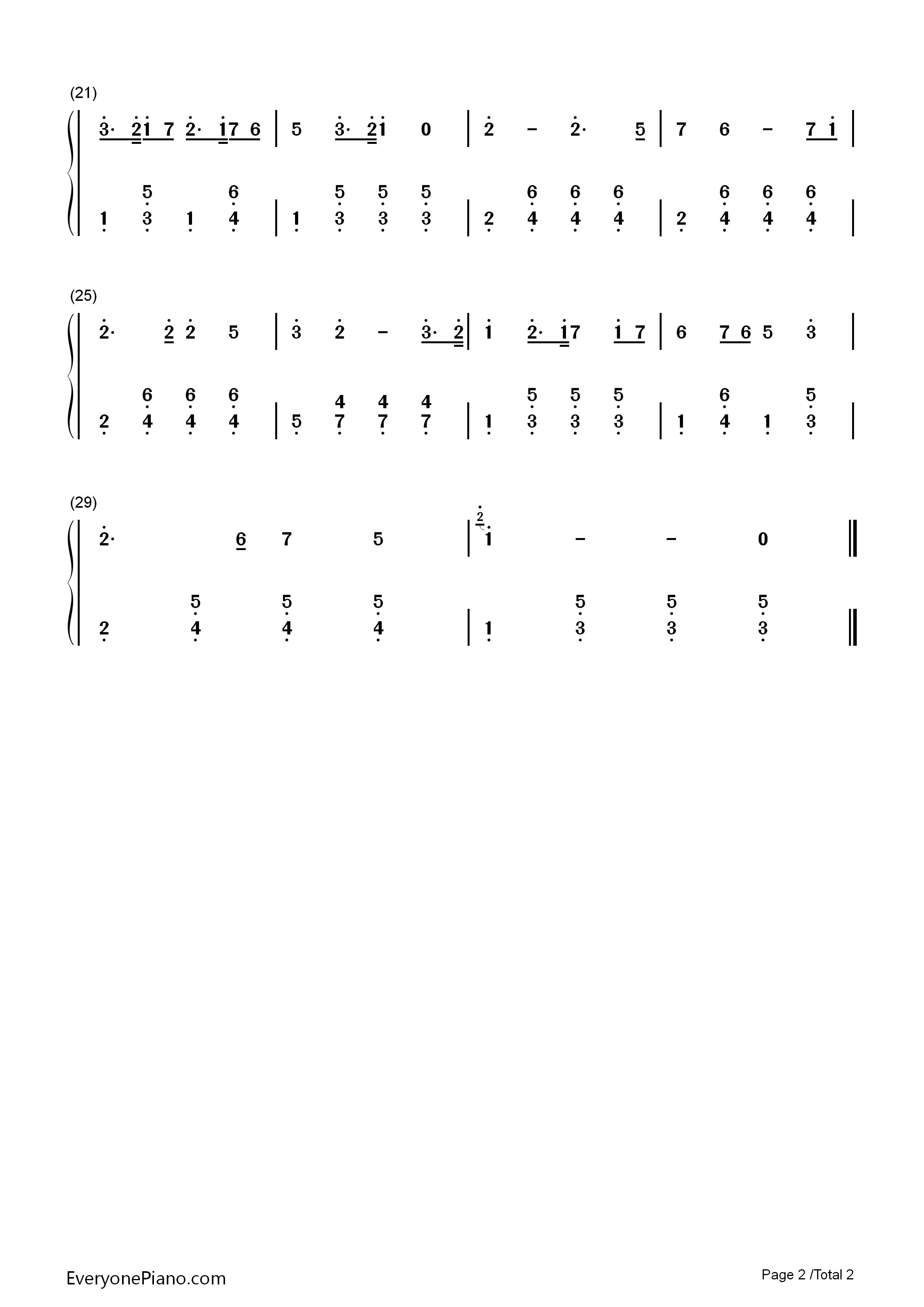 种太阳-儿歌双手简谱预览2