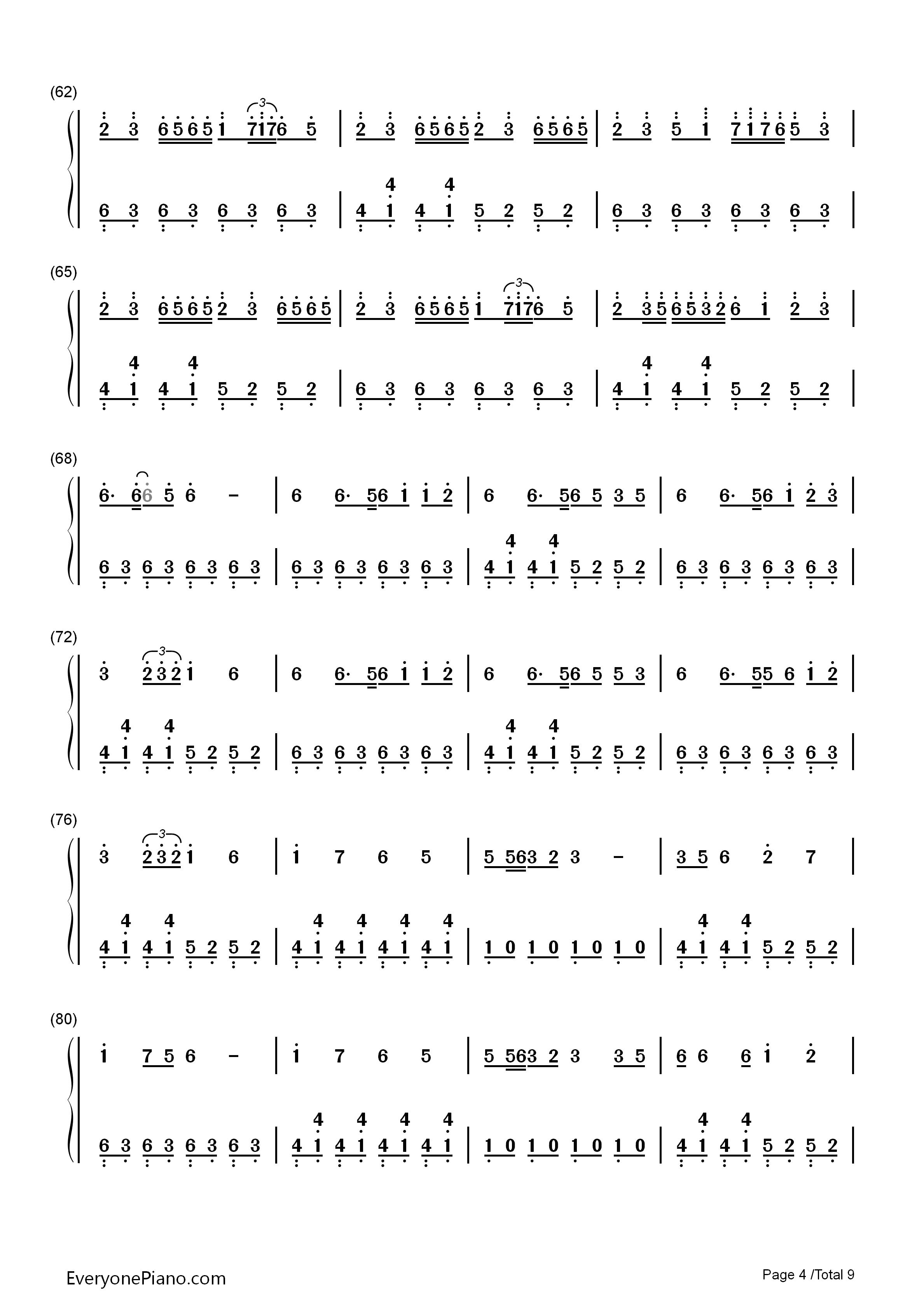 钢琴曲谱 动漫 千本樱简单版-初音未来 千本樱简单版-初音未来双手