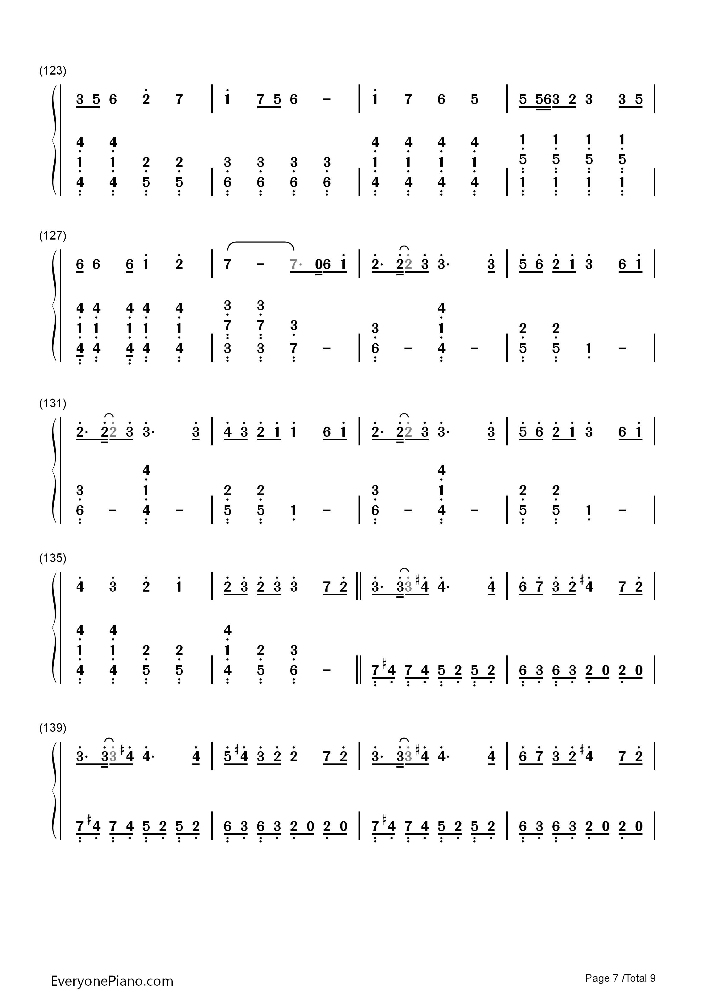 千本樱简单版-初音未来双手简谱预览