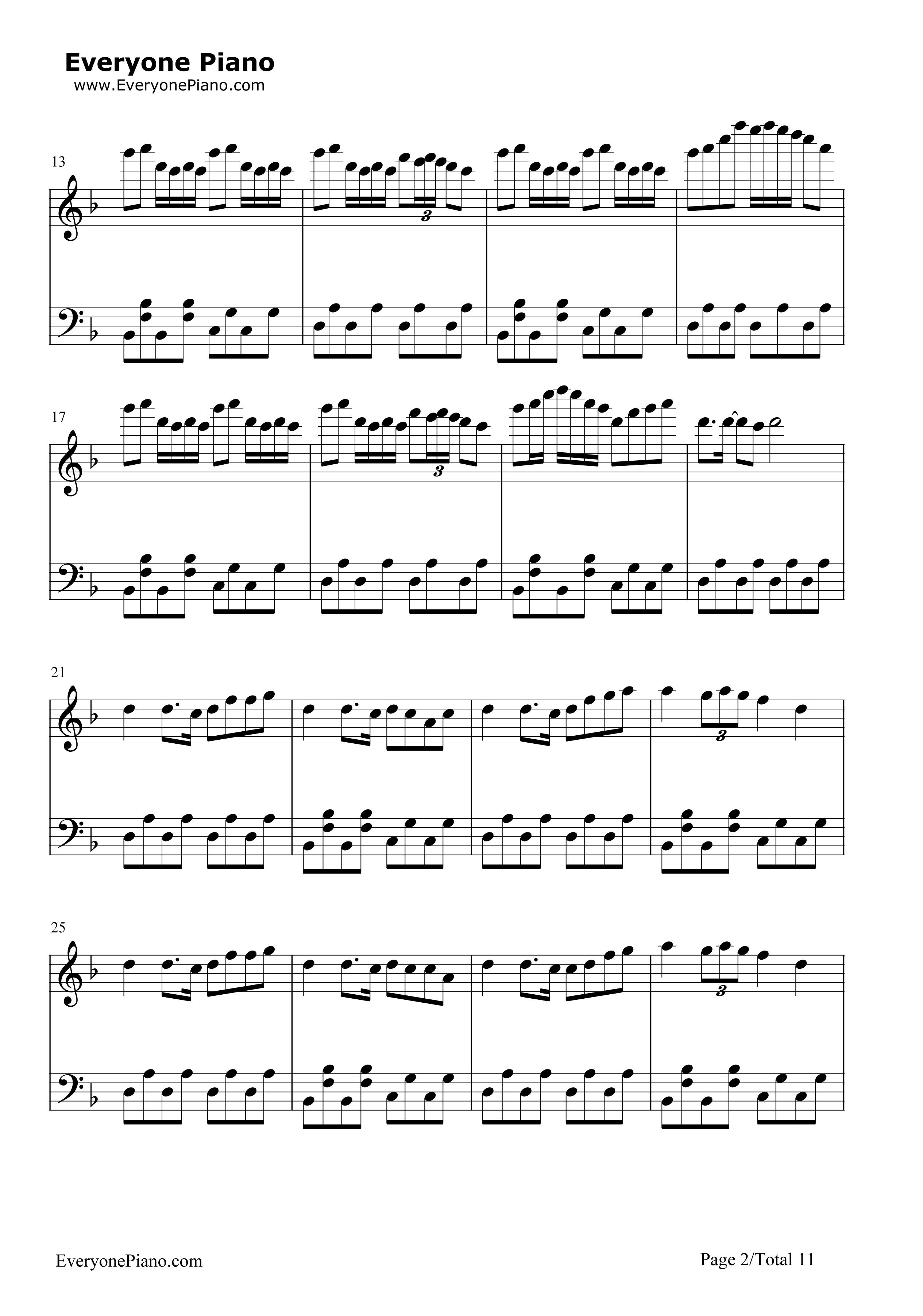 千本樱简单版-初音未来五线谱预览2