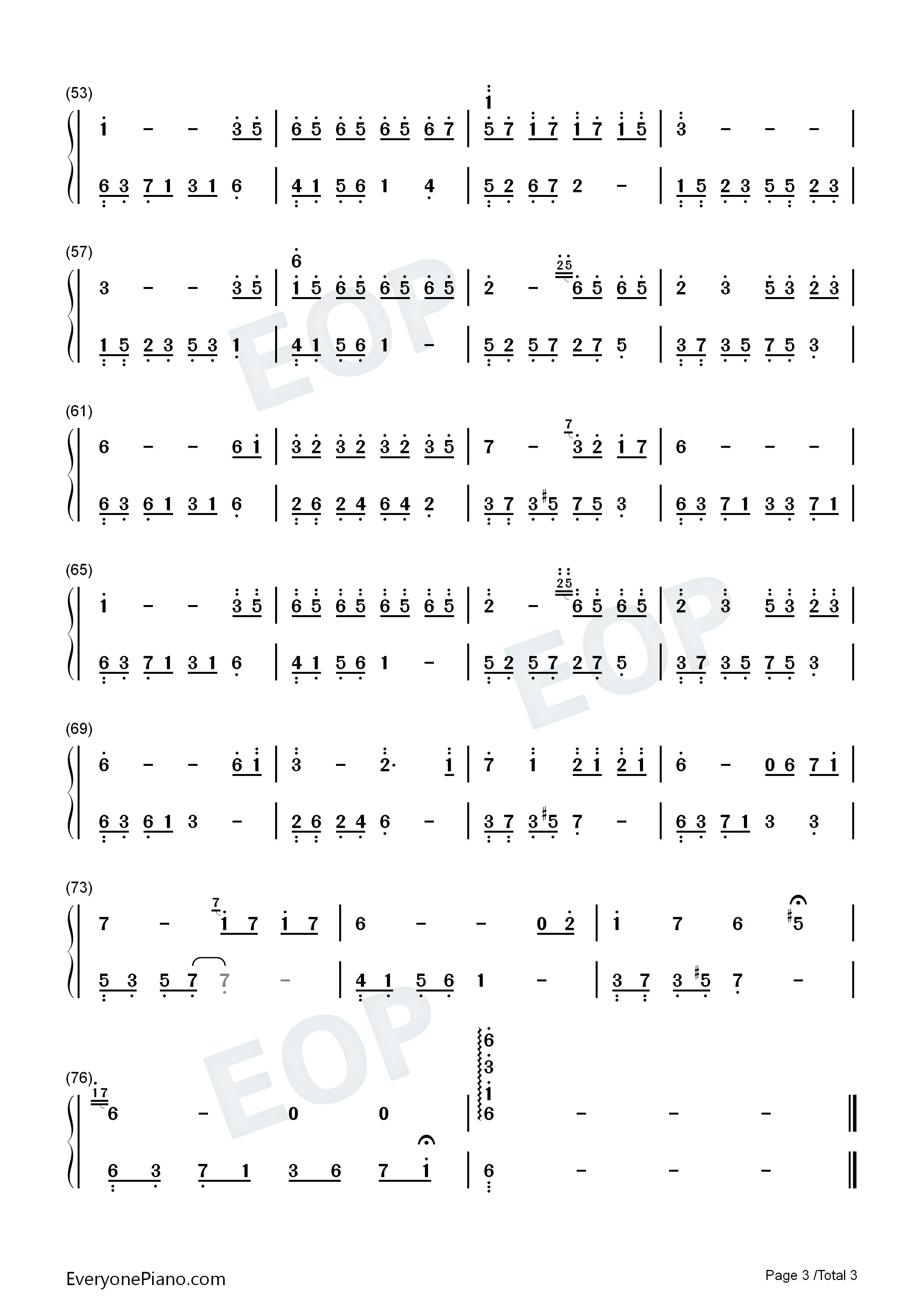 夜的钢琴曲 7双手简谱预览3
