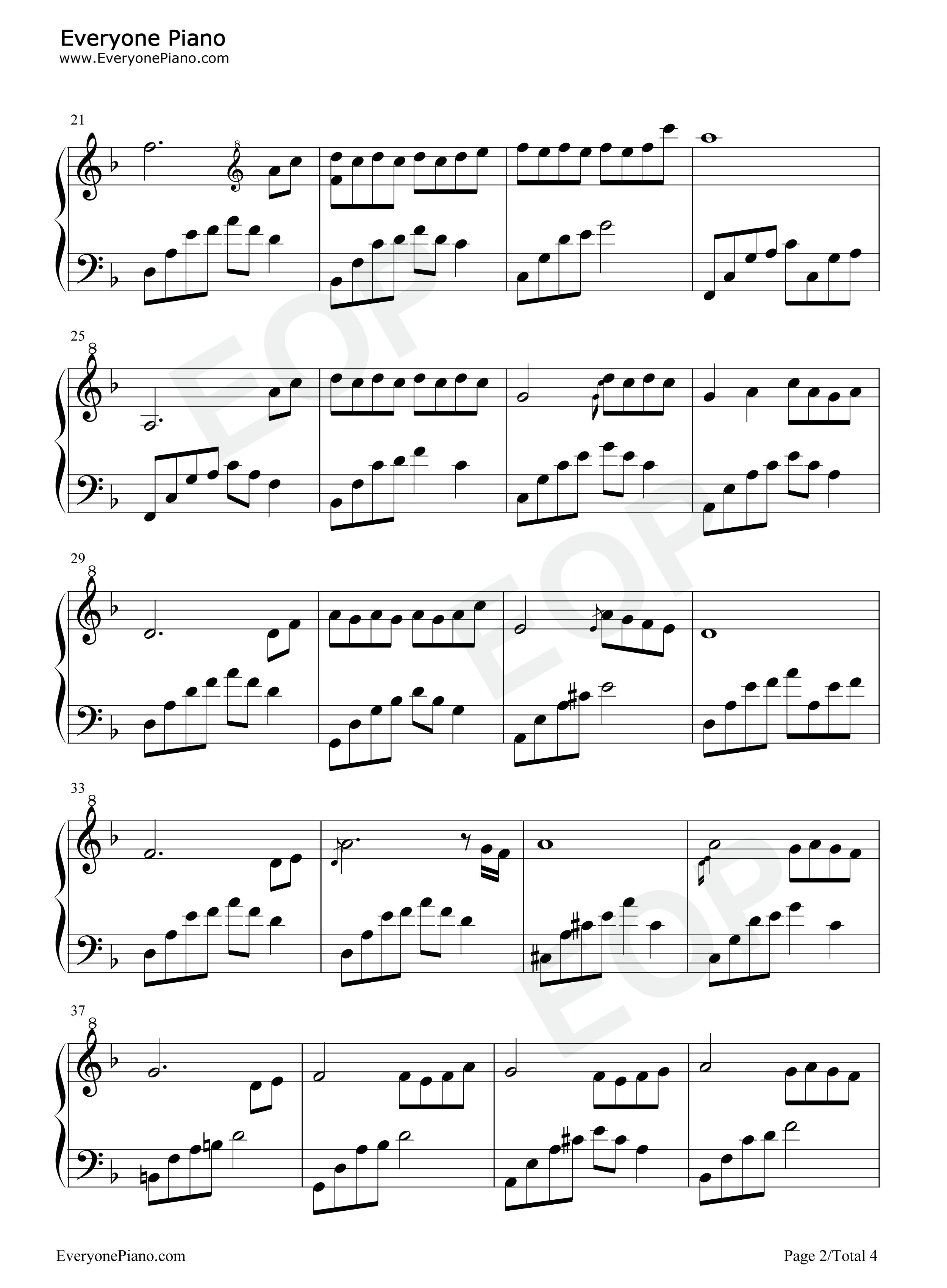 夜的钢琴曲 7五线谱预览2