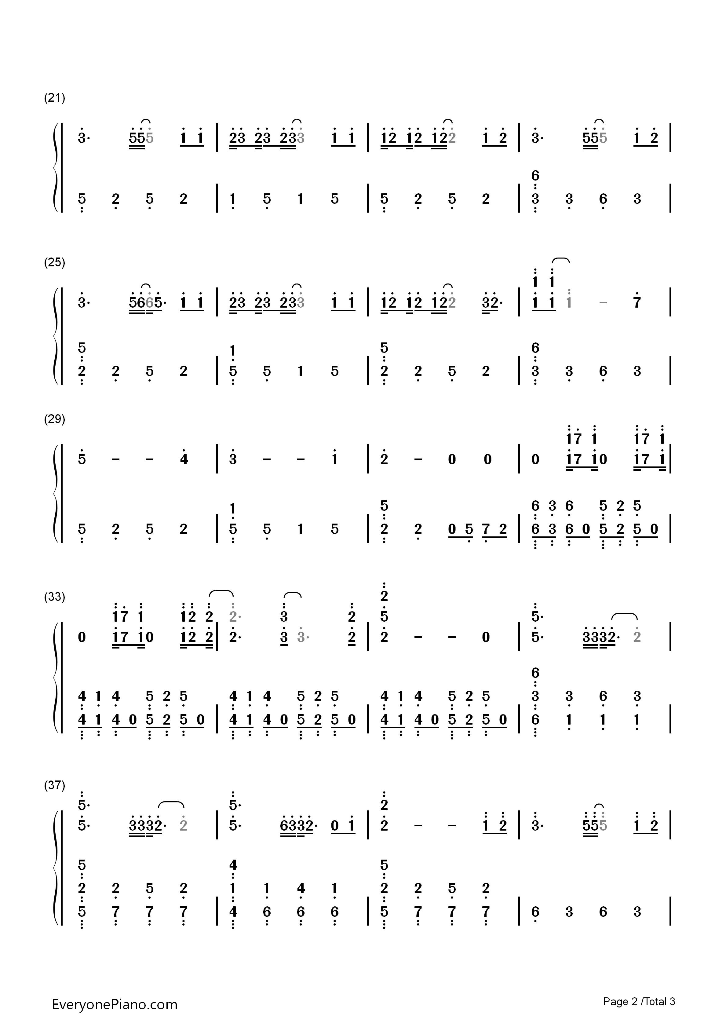 钢琴曲谱 流行 心之火-花千骨片头曲 心之火-花千骨片头曲双手简谱