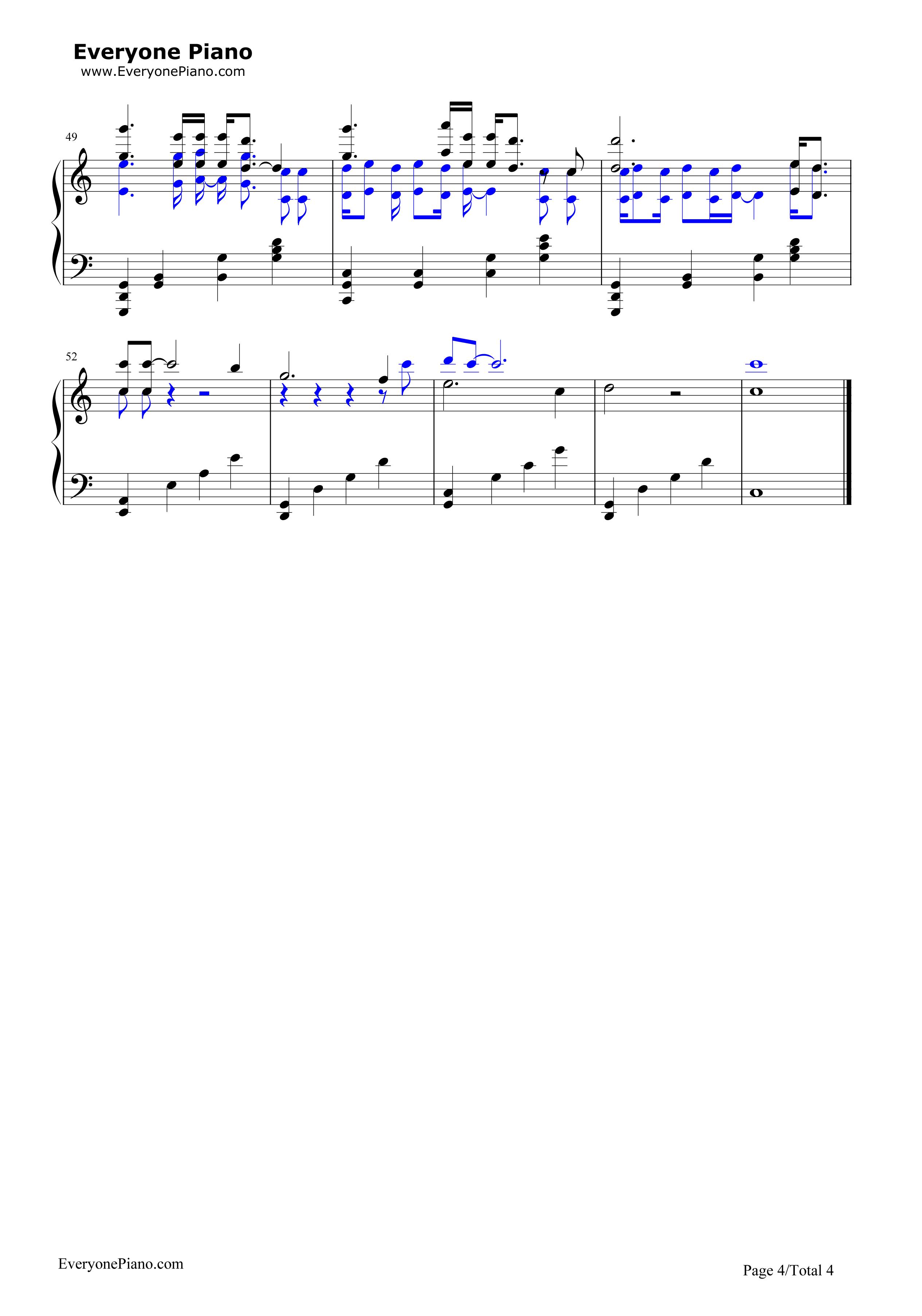 钢琴曲谱 流行 心之火-花千骨片头曲 心之火-花千骨片头曲五线谱预览4