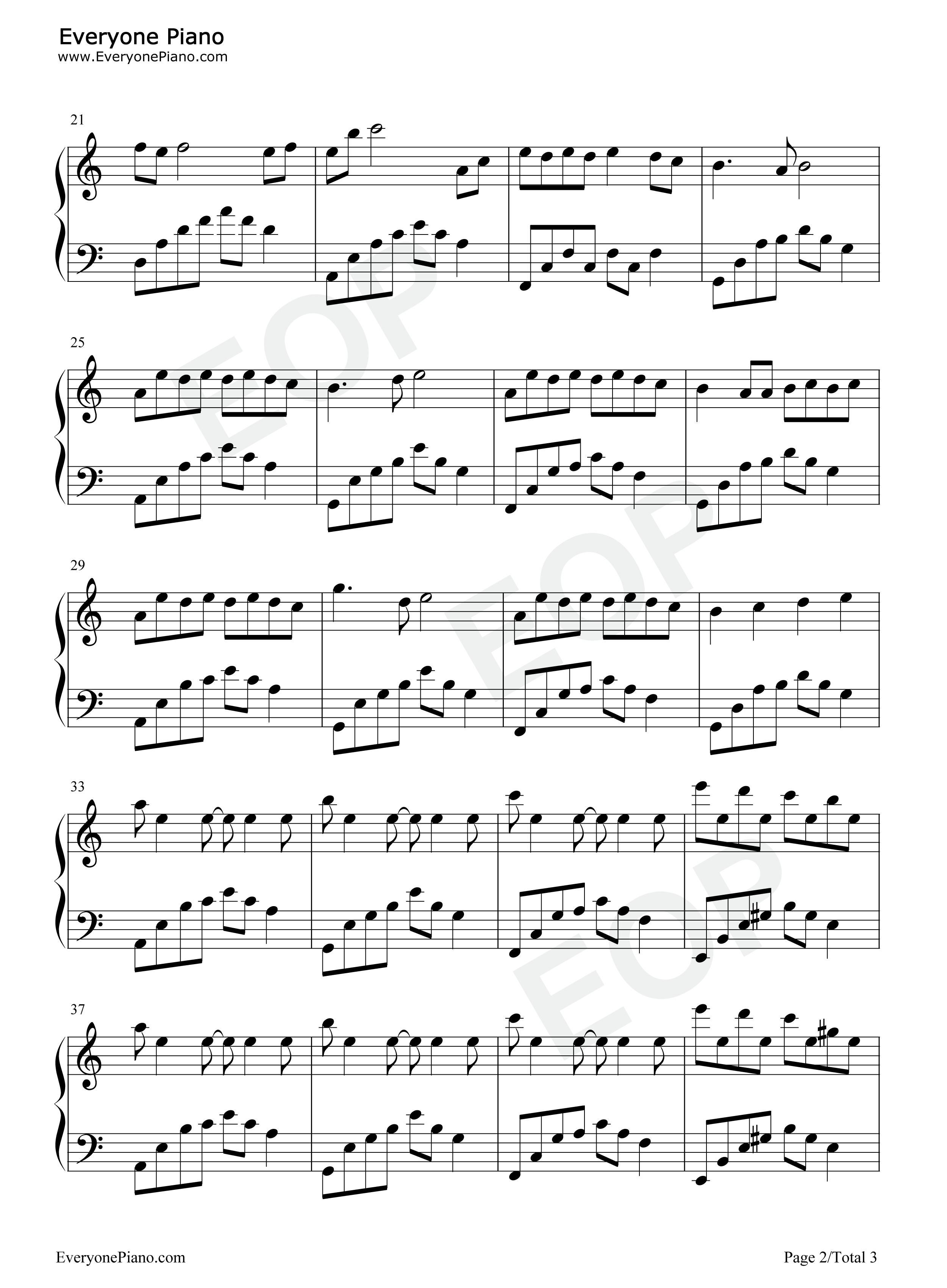 夜的钢琴曲 12-石进五线谱预览2图片