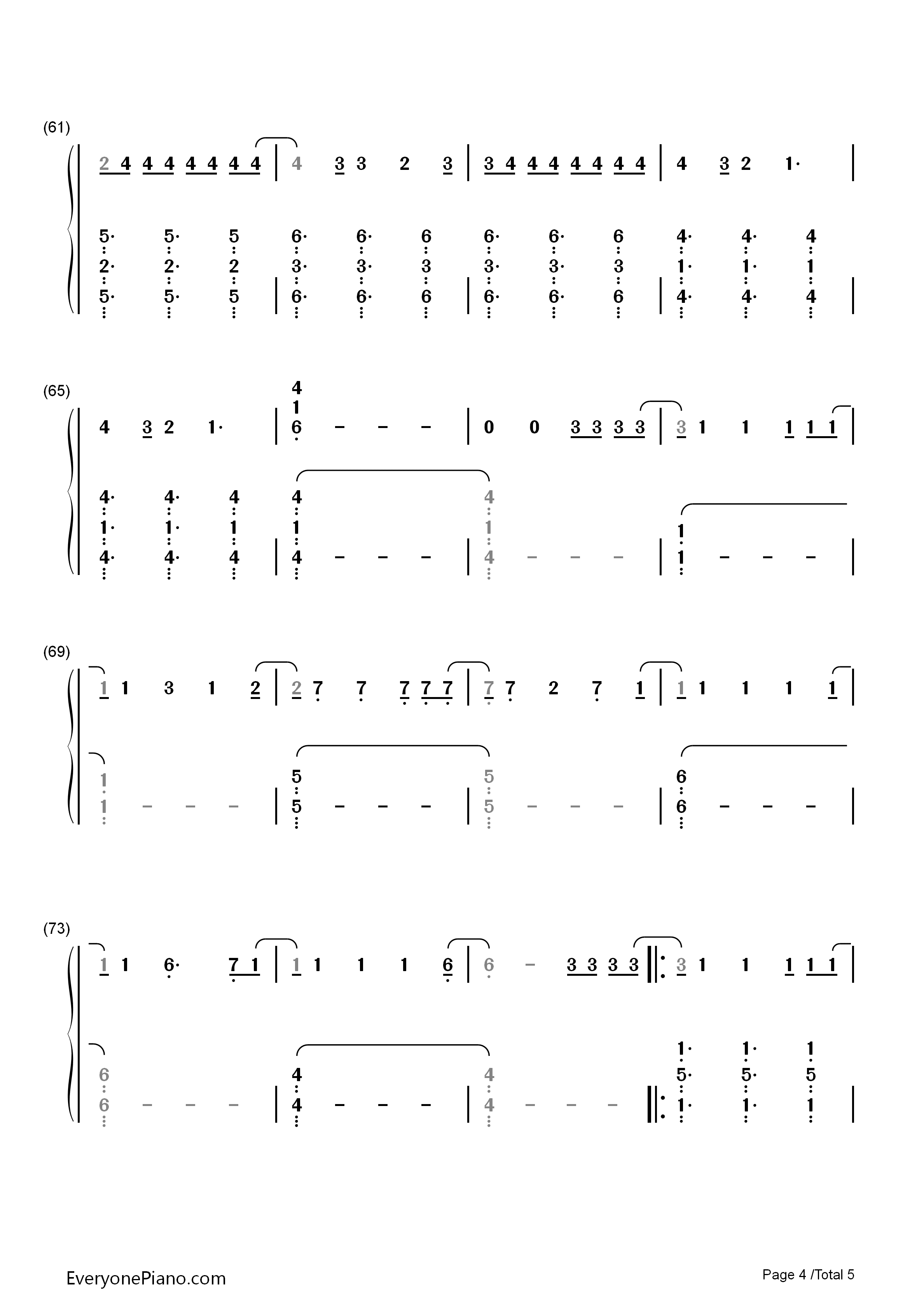 9277penbeat谱子-kelly 简谱 钢琴谱 五线谱