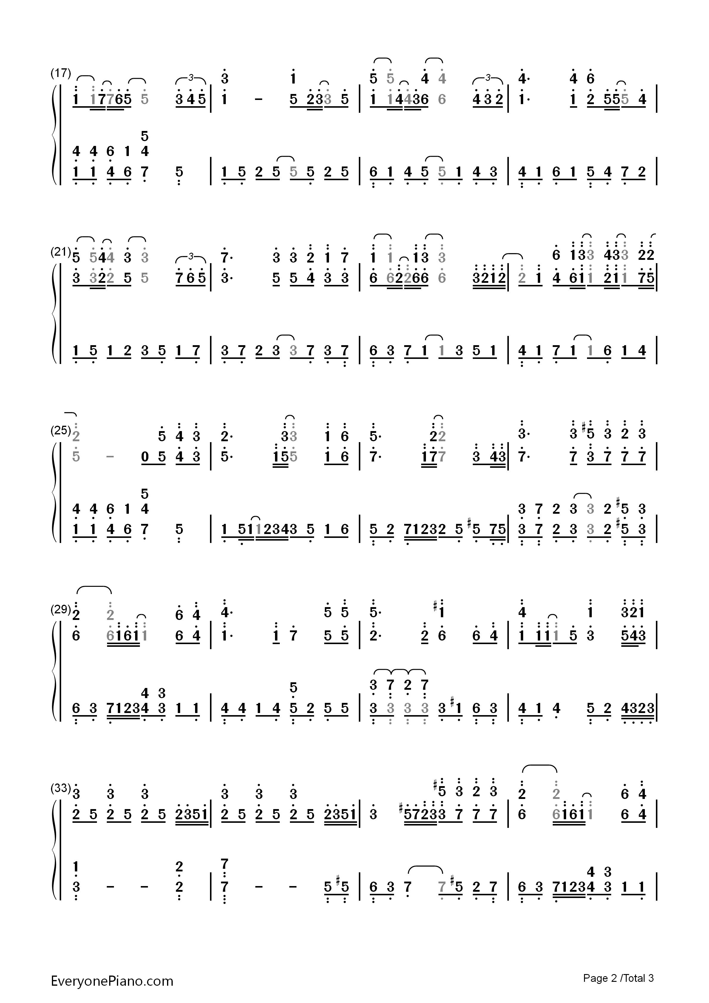 拾忆-一起来看流星雨插曲双手简谱预览2