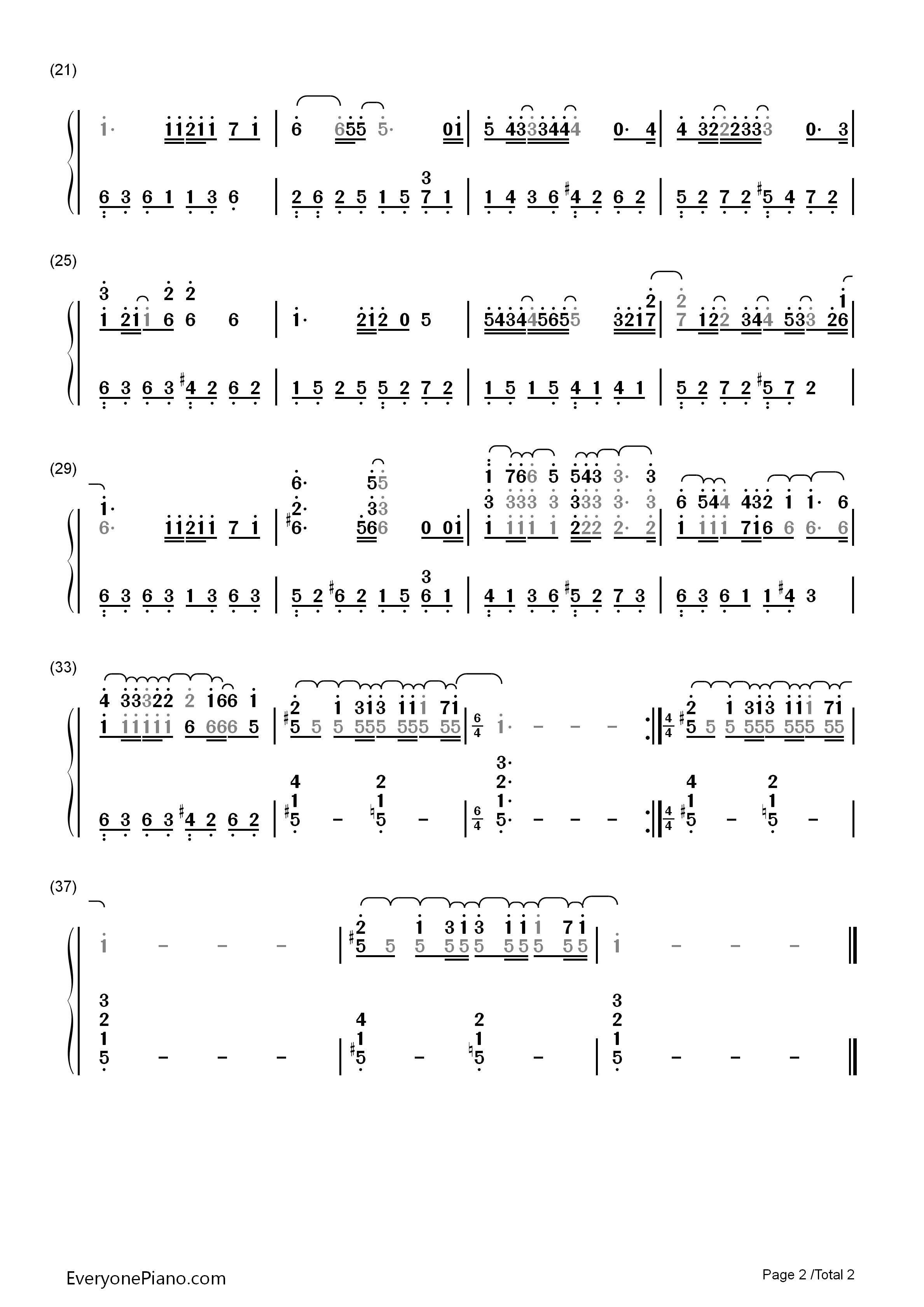 哆啦a梦钢琴曲谱