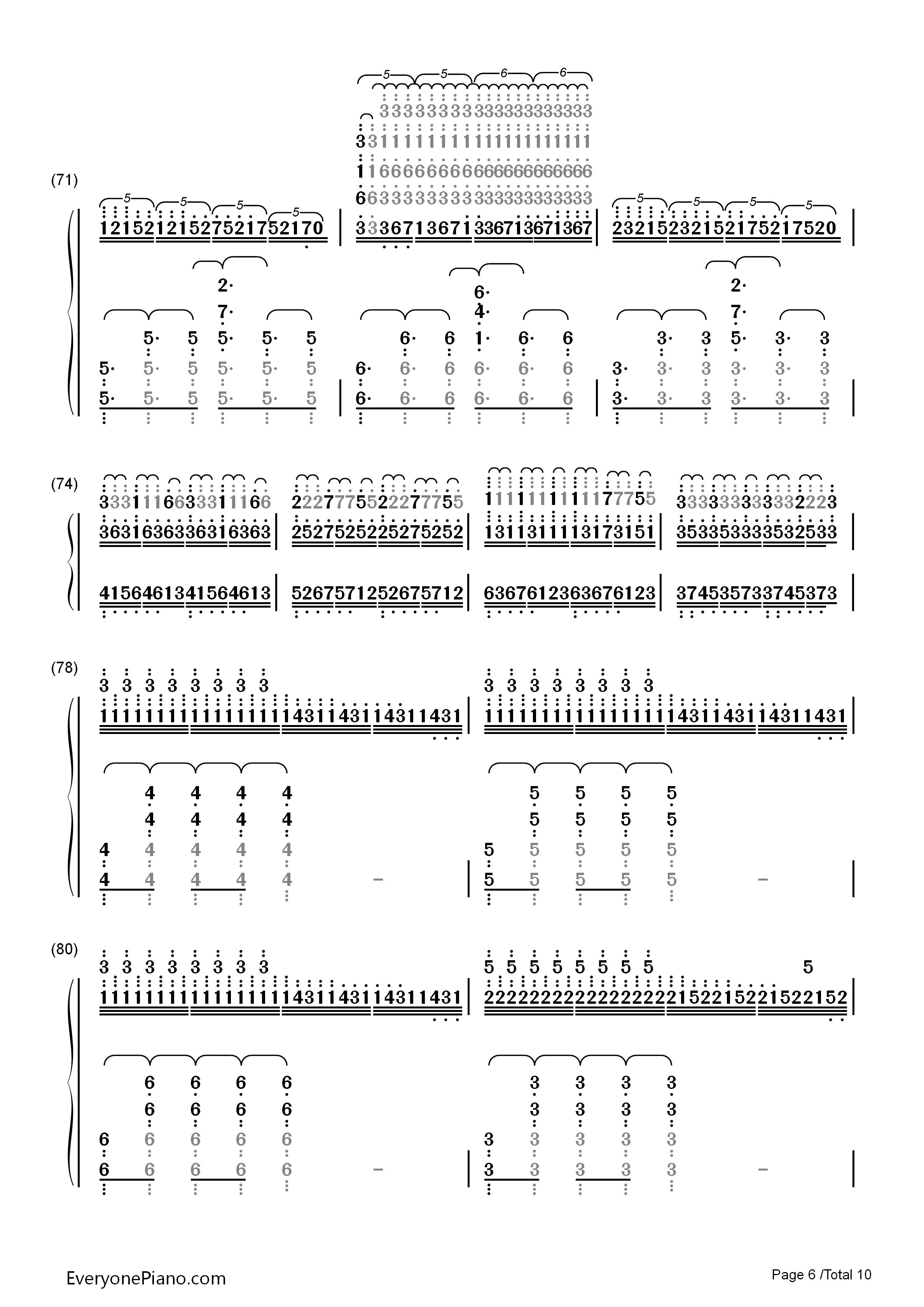 钢琴曲谱 动漫 unravel-东京喰种主题曲 unravel-东京喰种主题曲双手