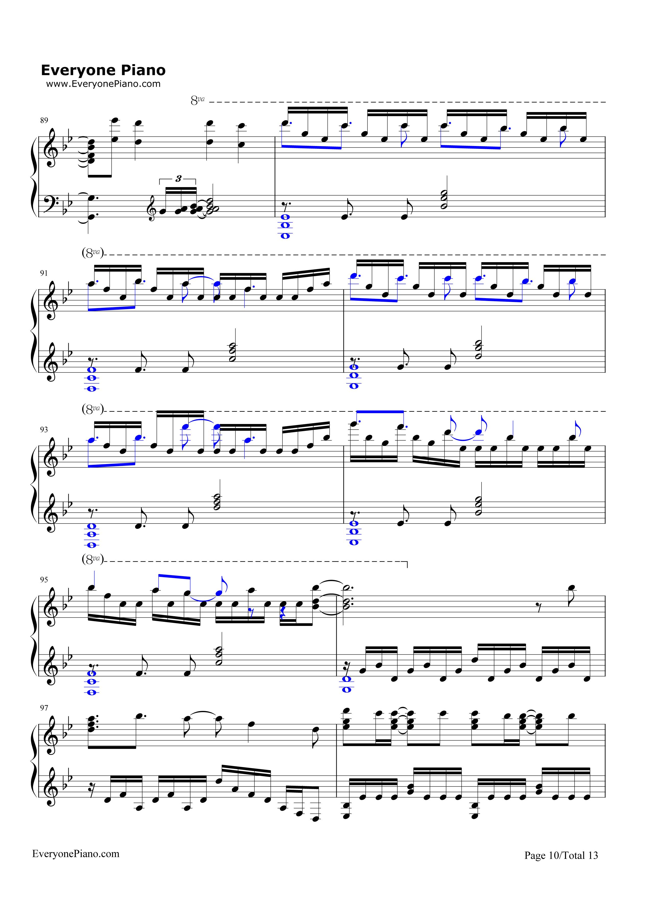 钢琴曲谱 动漫 unravel-东京喰种主题曲 unravel-东京喰种主题曲