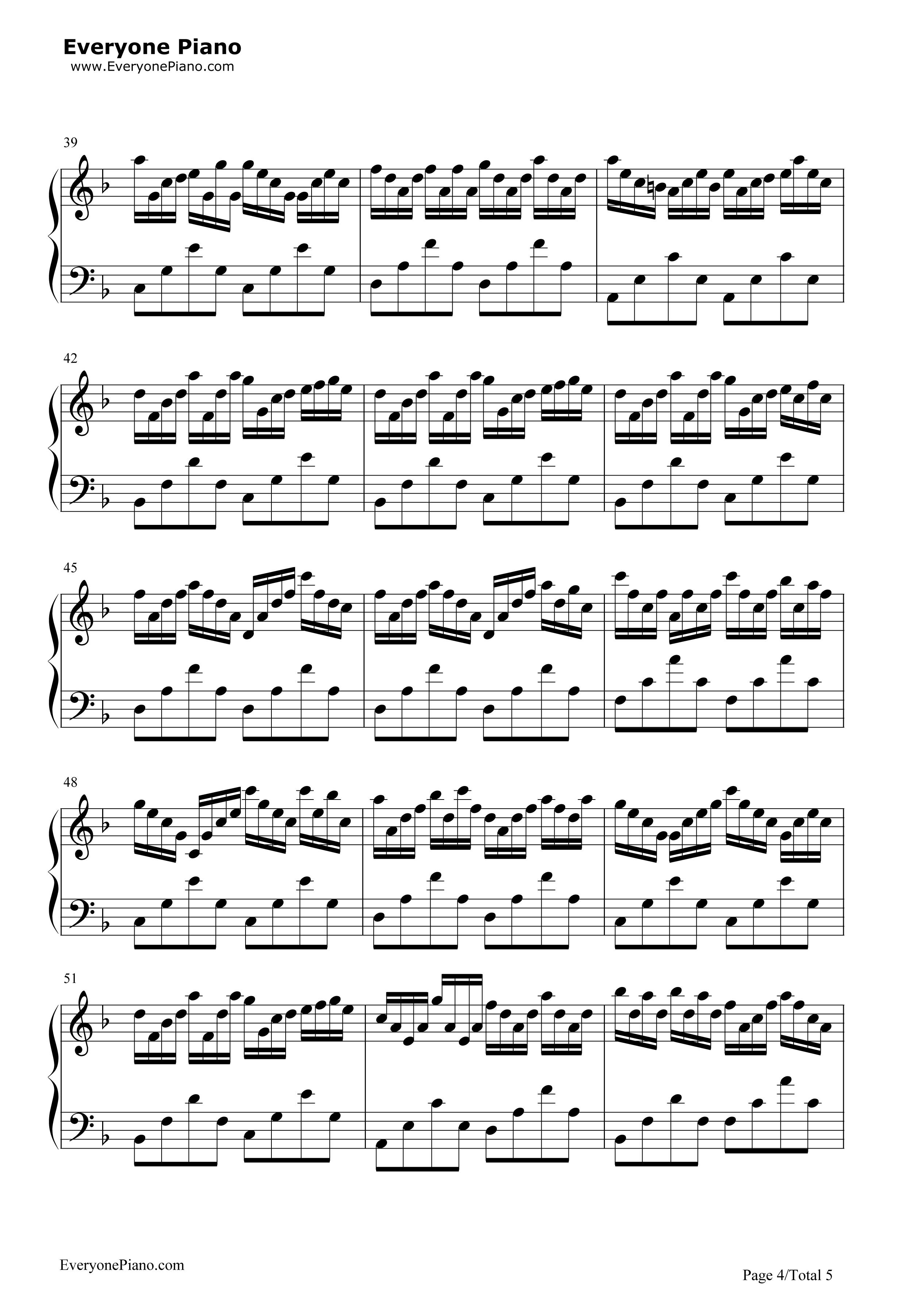 钢琴谱子虫儿飞