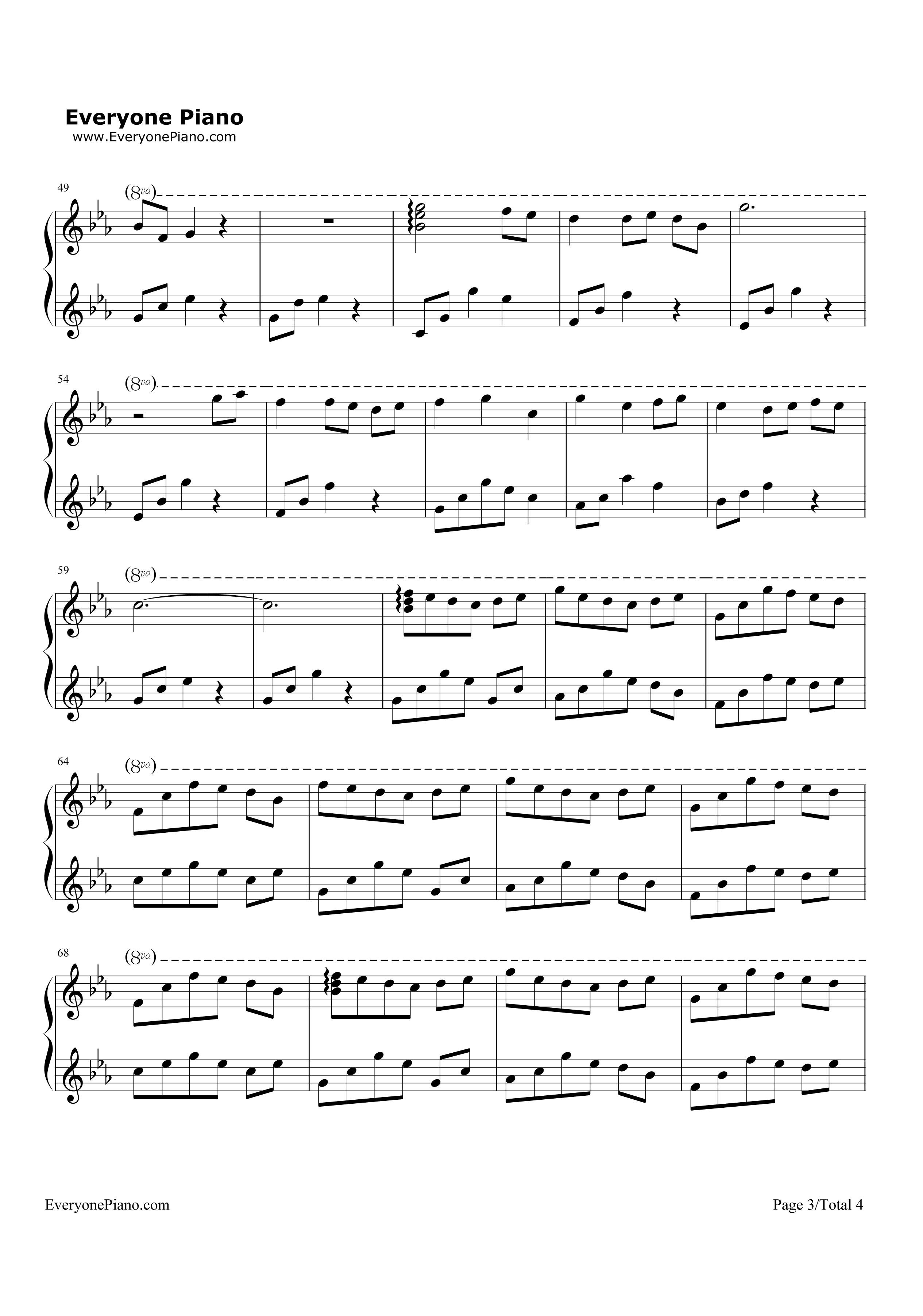 月光彼岸-原创音乐五线谱预览3-钢琴谱档(五线谱,双手