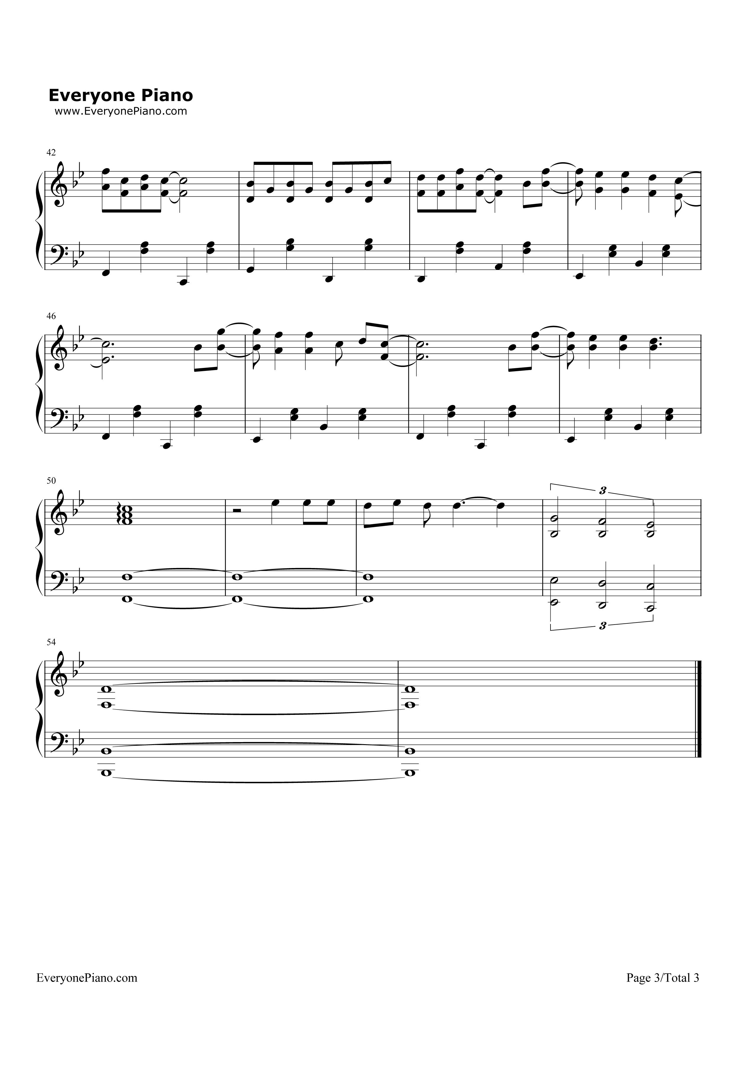 lemon tree-柠檬树五线谱预览3-钢琴谱(五线谱,双手)